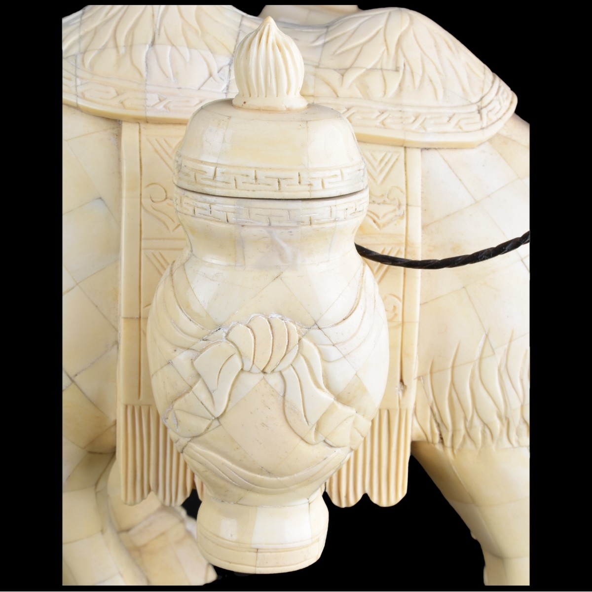 Pair of Chinese Tang Style Tessalated Bone Camel