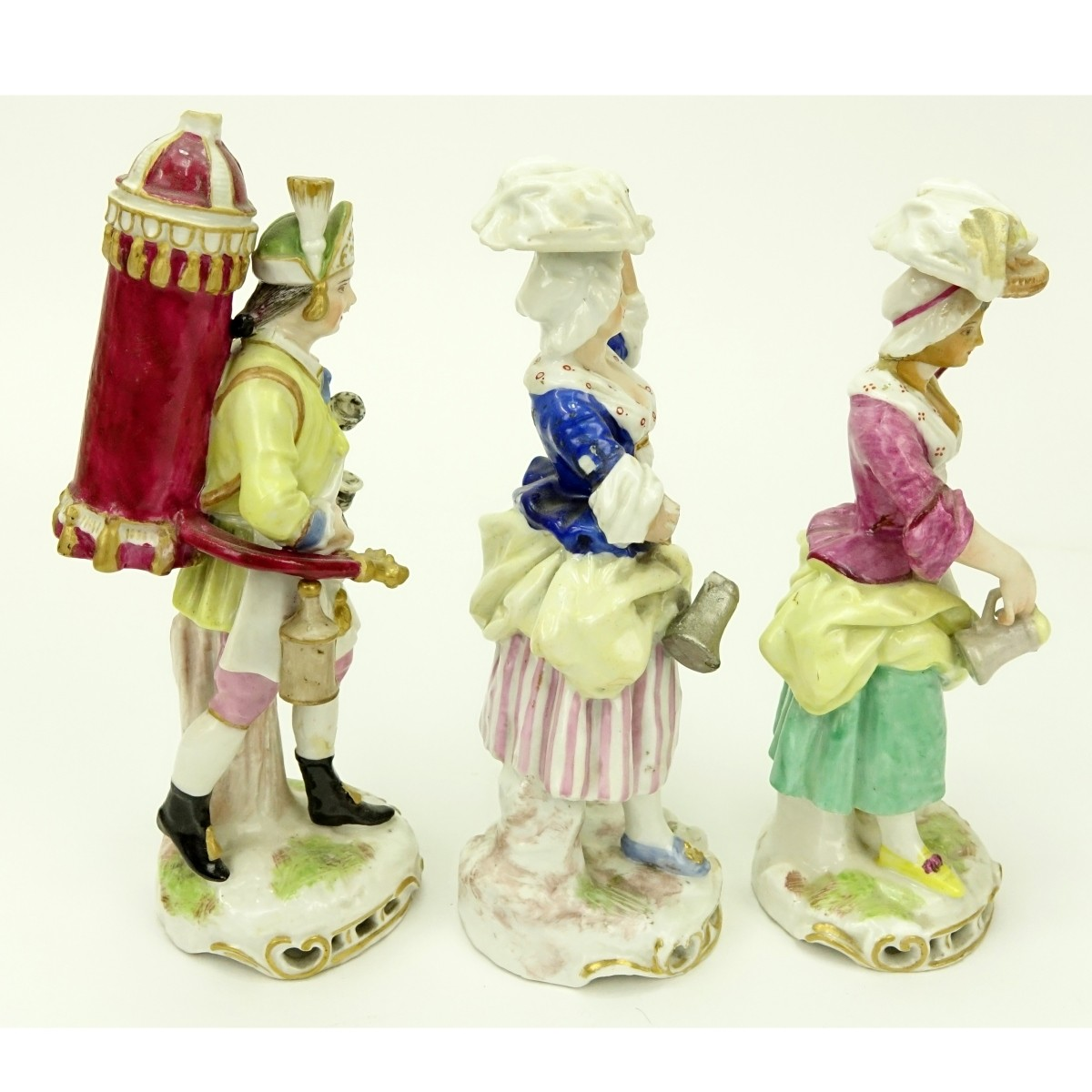Grouping of Three (3) Antique Porcelain Figurines