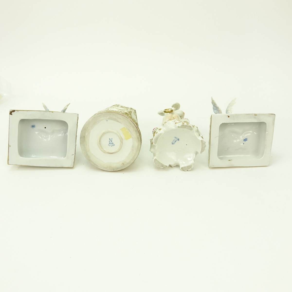 Grouping of Four (4) Antique Porcelain Figurines