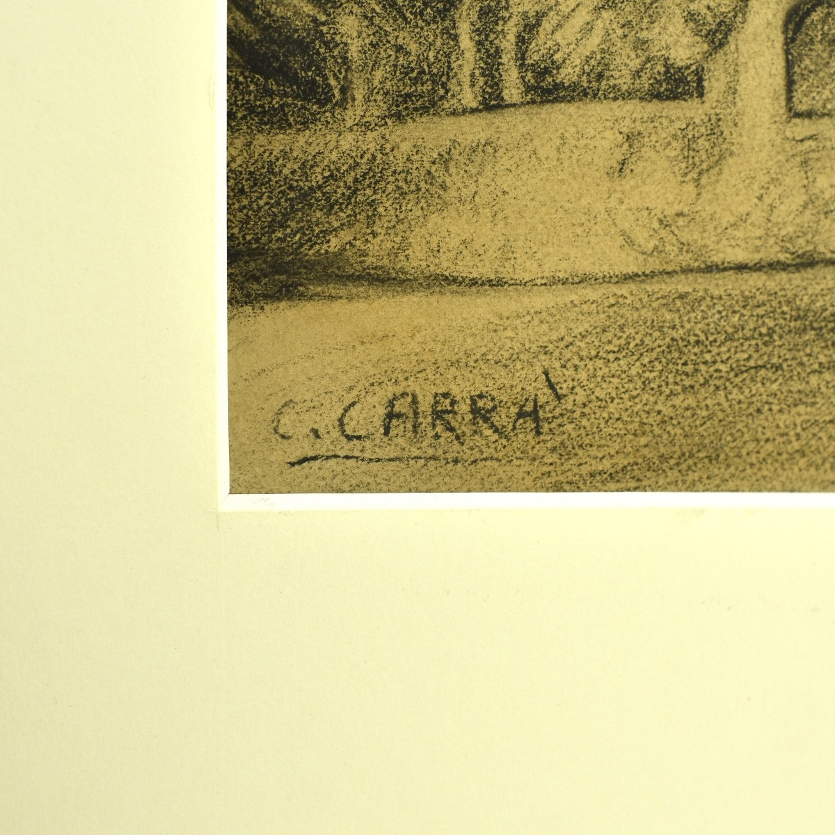Carlo Carrà, Italian (1881–1966) Charcoal on card