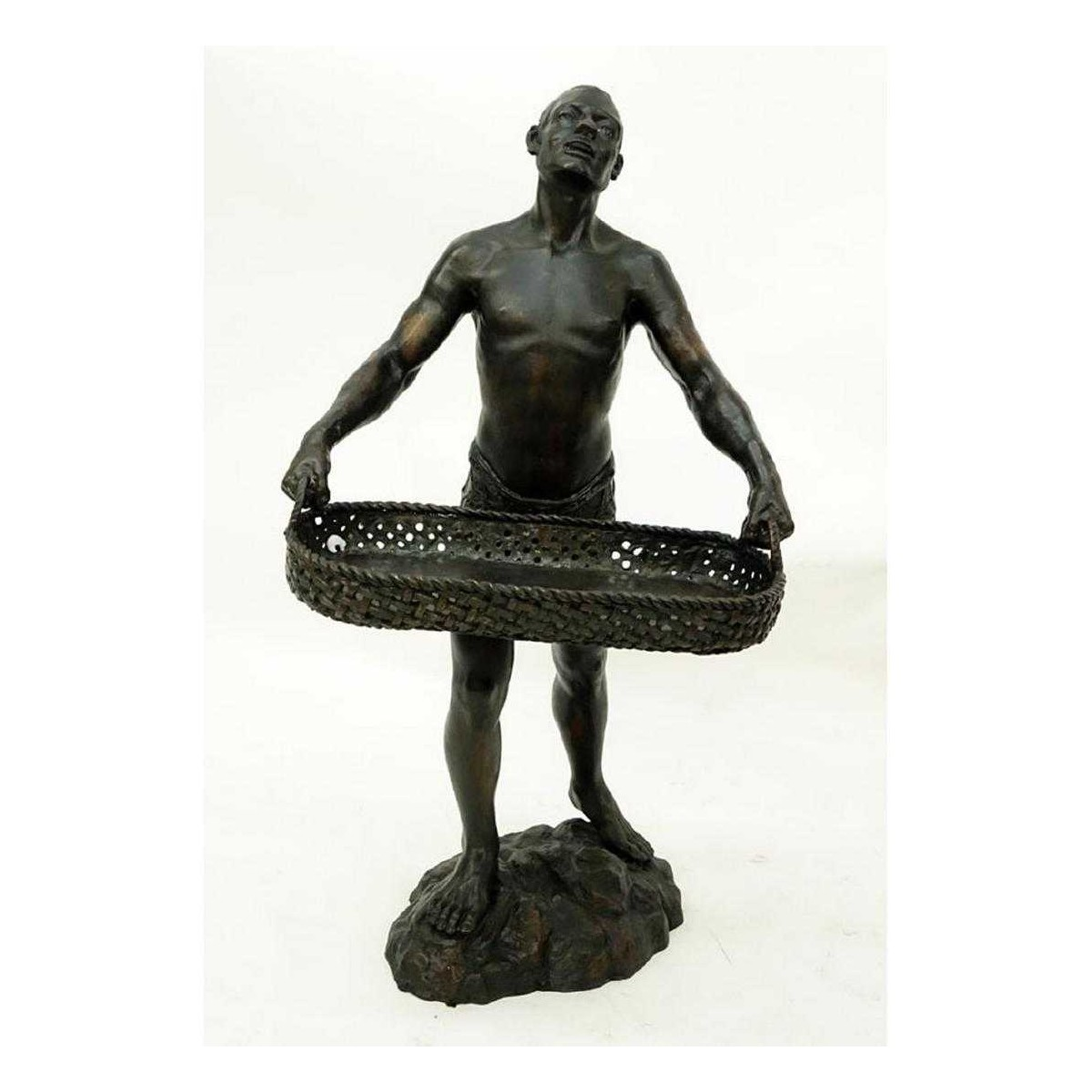 A Patinated Bronze Sculpture, Nubian Male