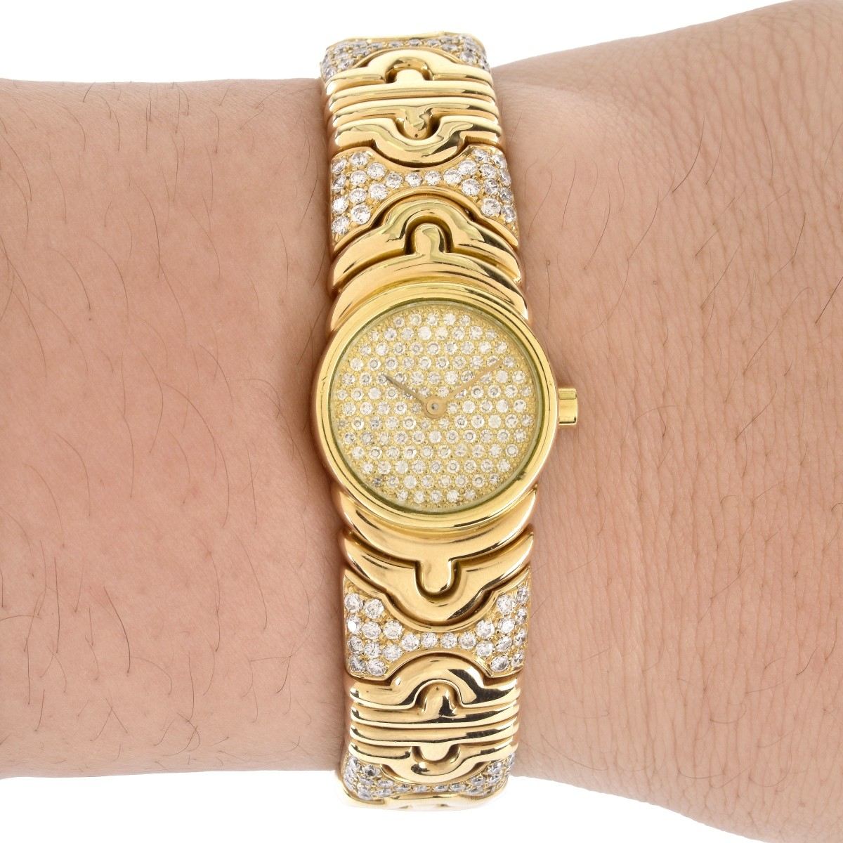 Lady's Bulgari Diamond 18K Parentesi Watch