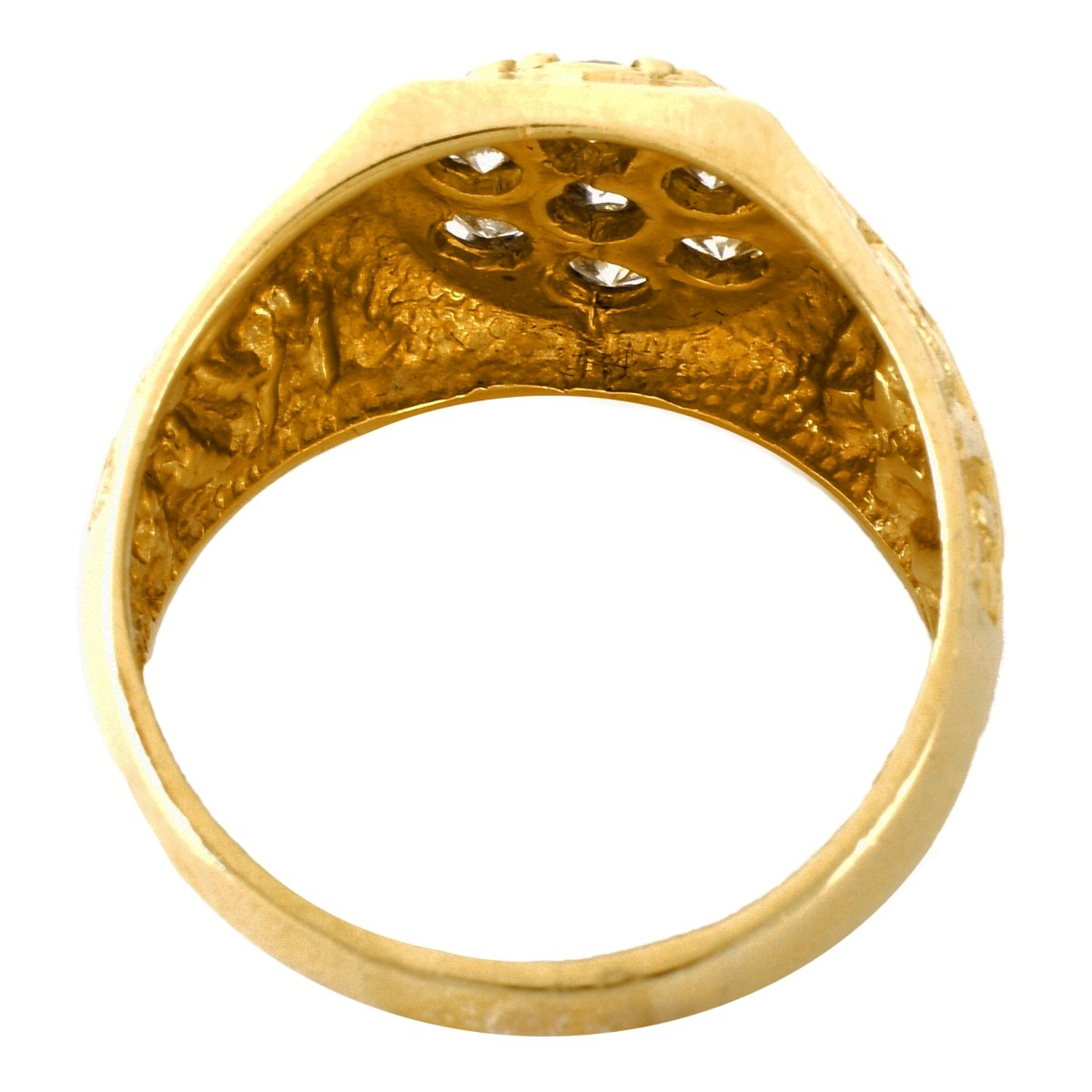 Man's Diamond and 14K Gold Ring