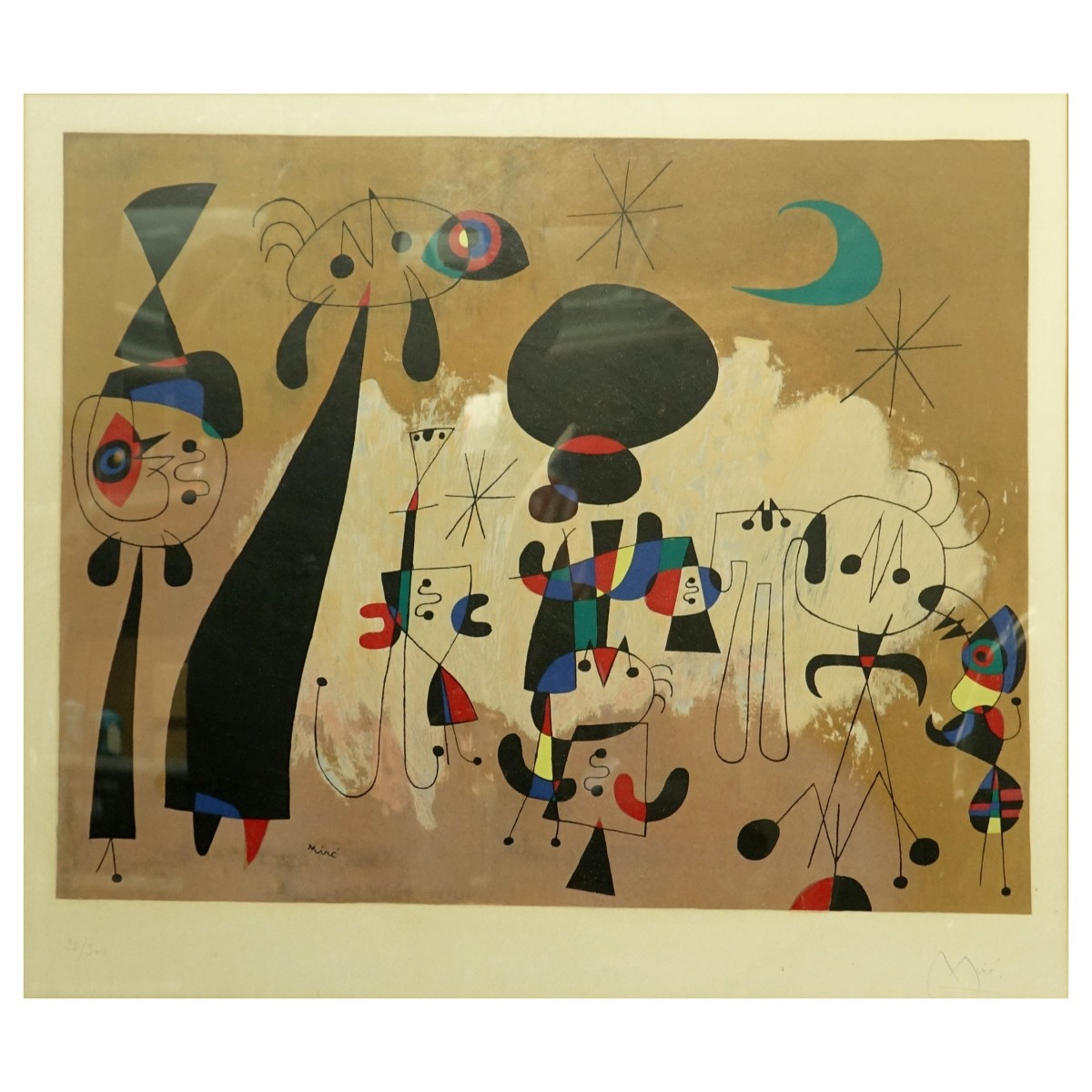 After: Joan Miro Color Lithograph
