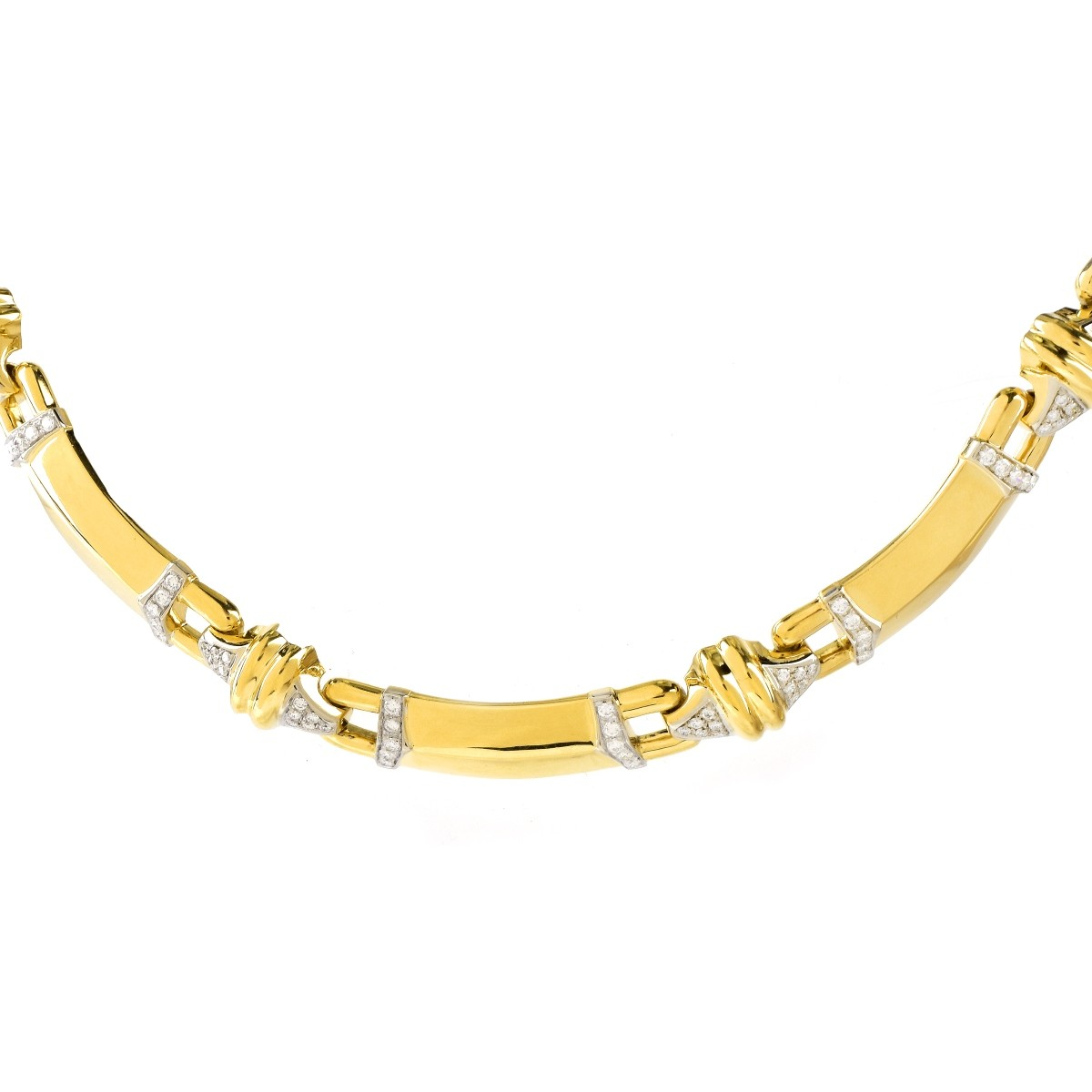 5.0ct TW Diamond and 18K Gold Necklace