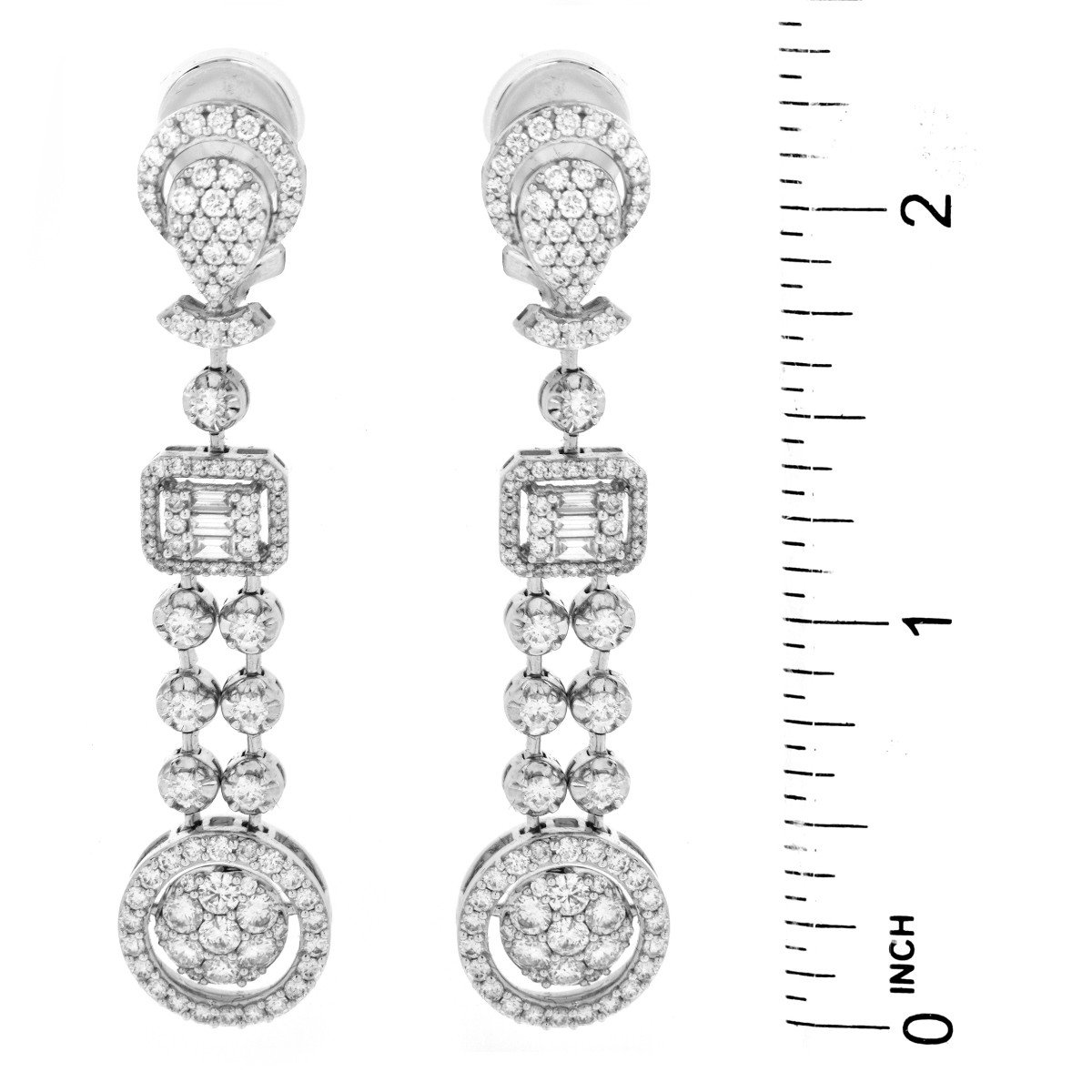 4.0ct TW Diamond and 18K Gold Earrings