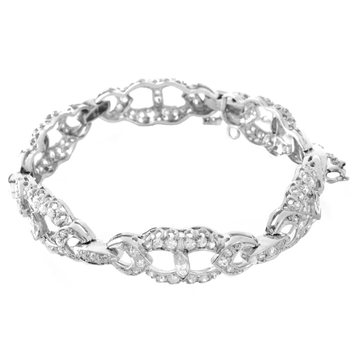 Antique Diamond and Platinum Bracelet