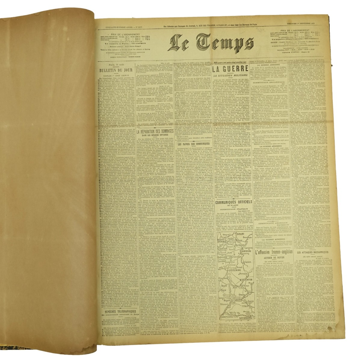 "1918 Paris, ""Le Temps"" Newspaper"