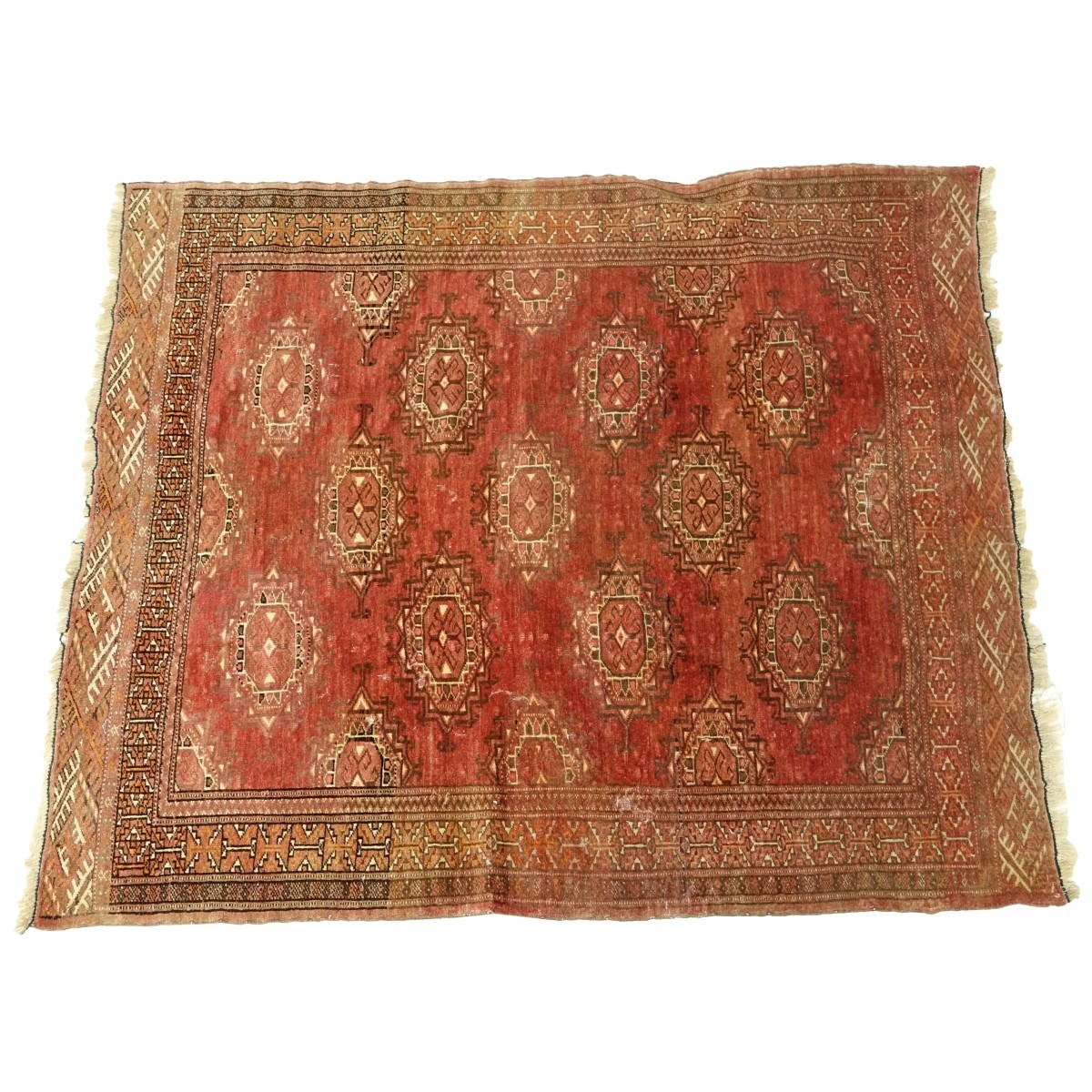Semi-Antique Geometric Balouch Rug