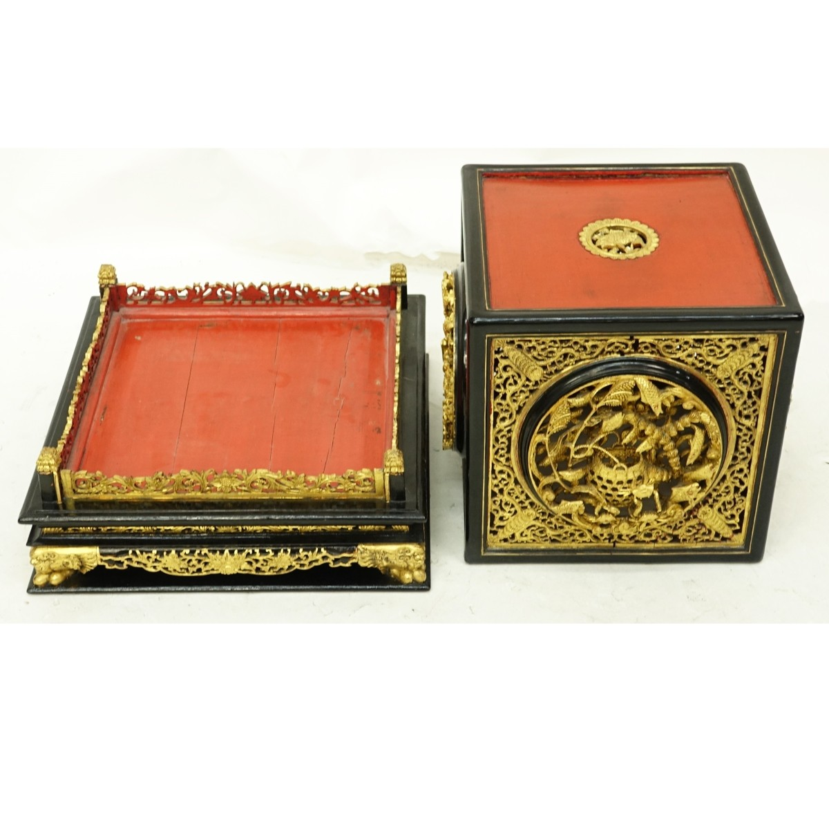 Chinese Lacquer Altar Box
