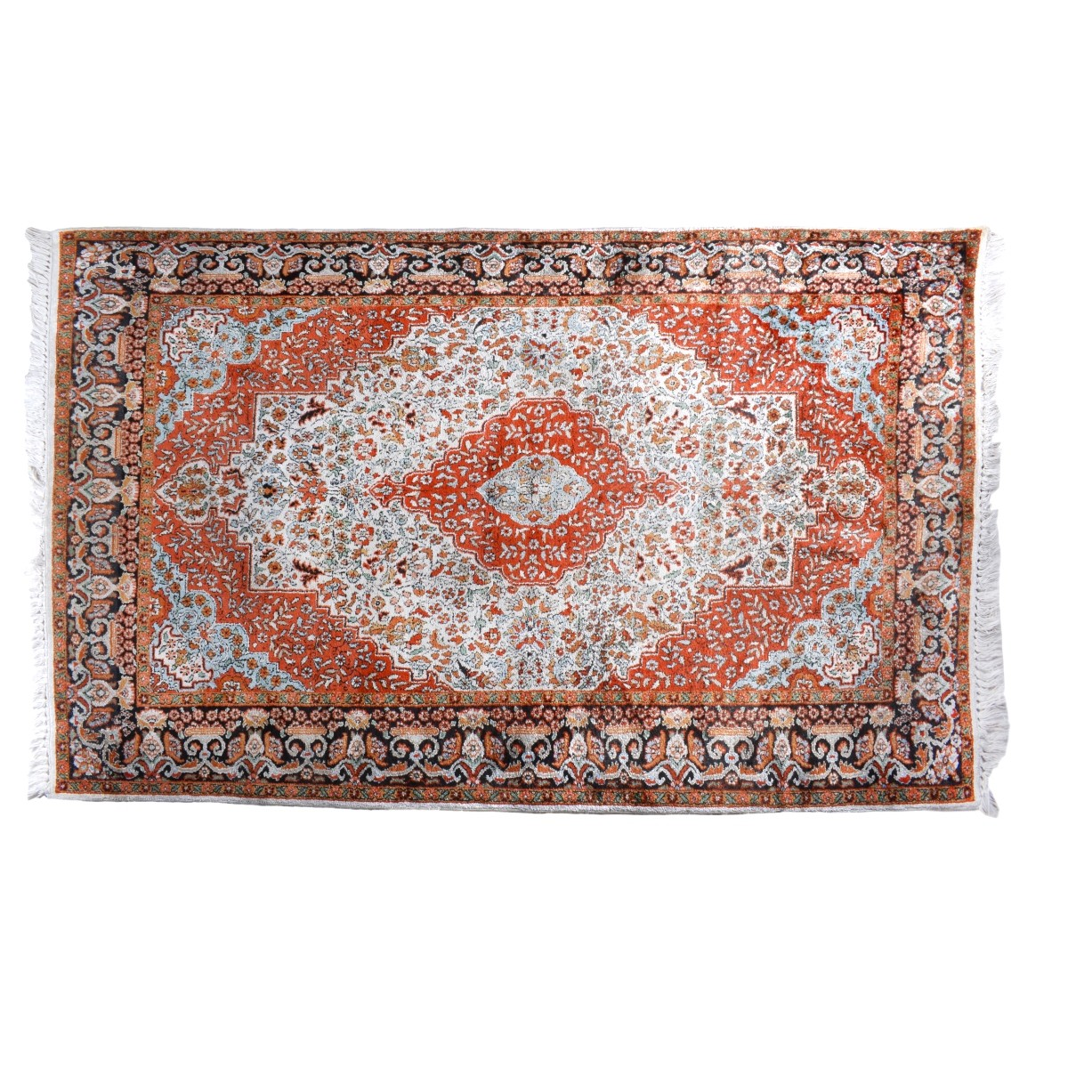 Semi Antique Persian Kashan Style Rug