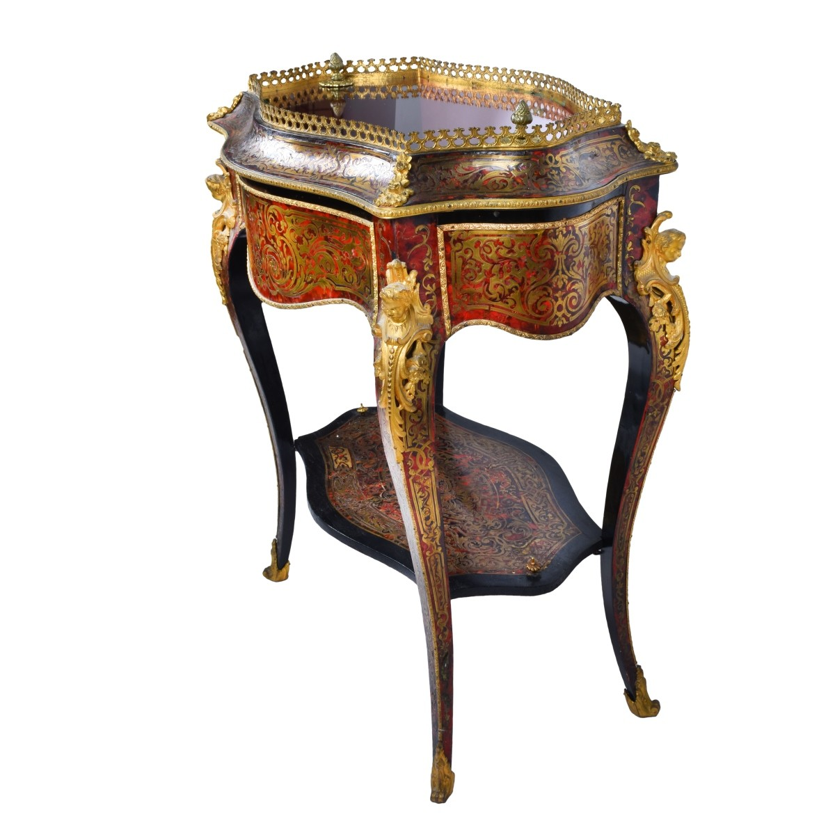 19th Century French Boulle Vitrine Table