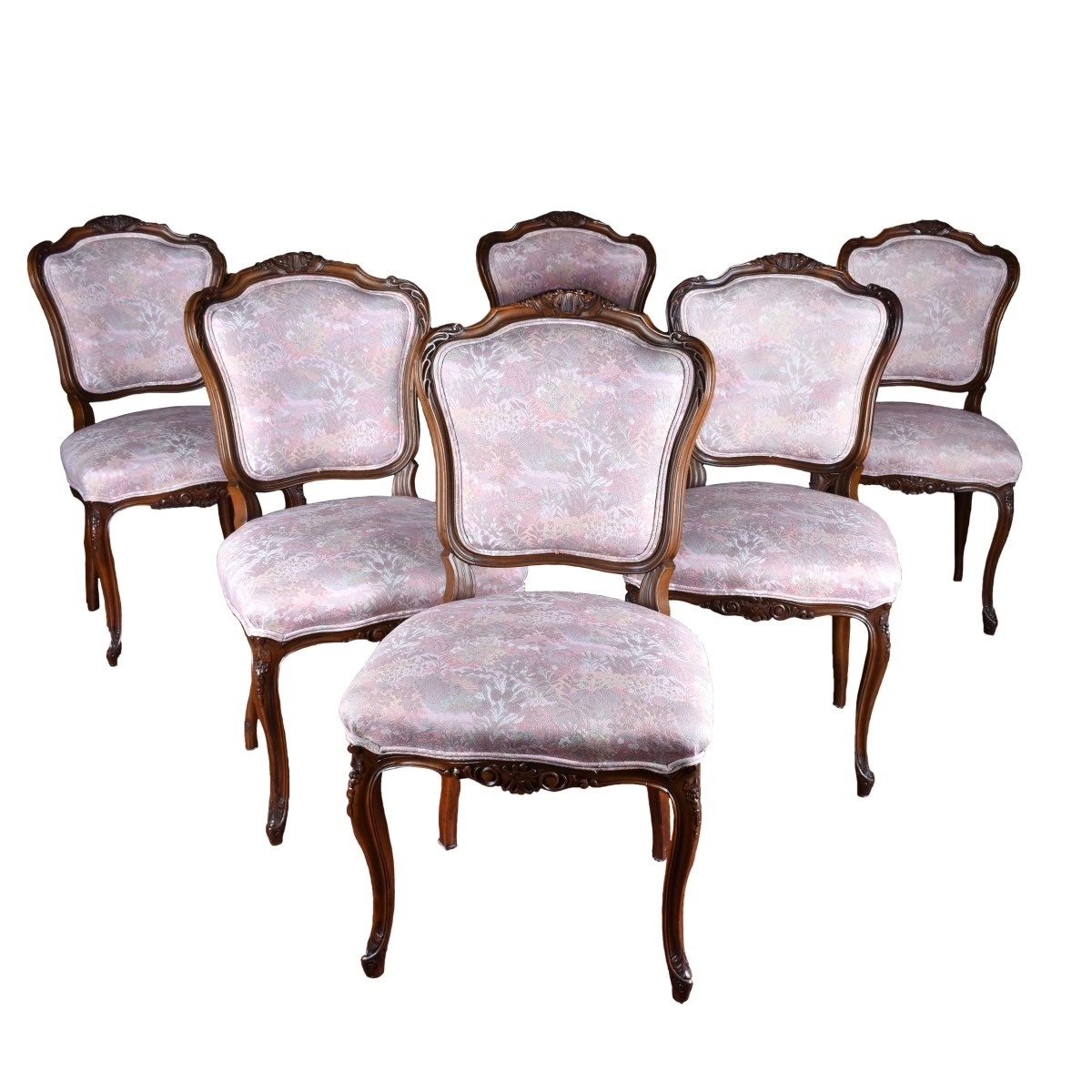 Set of Six (6) French Side Chairs