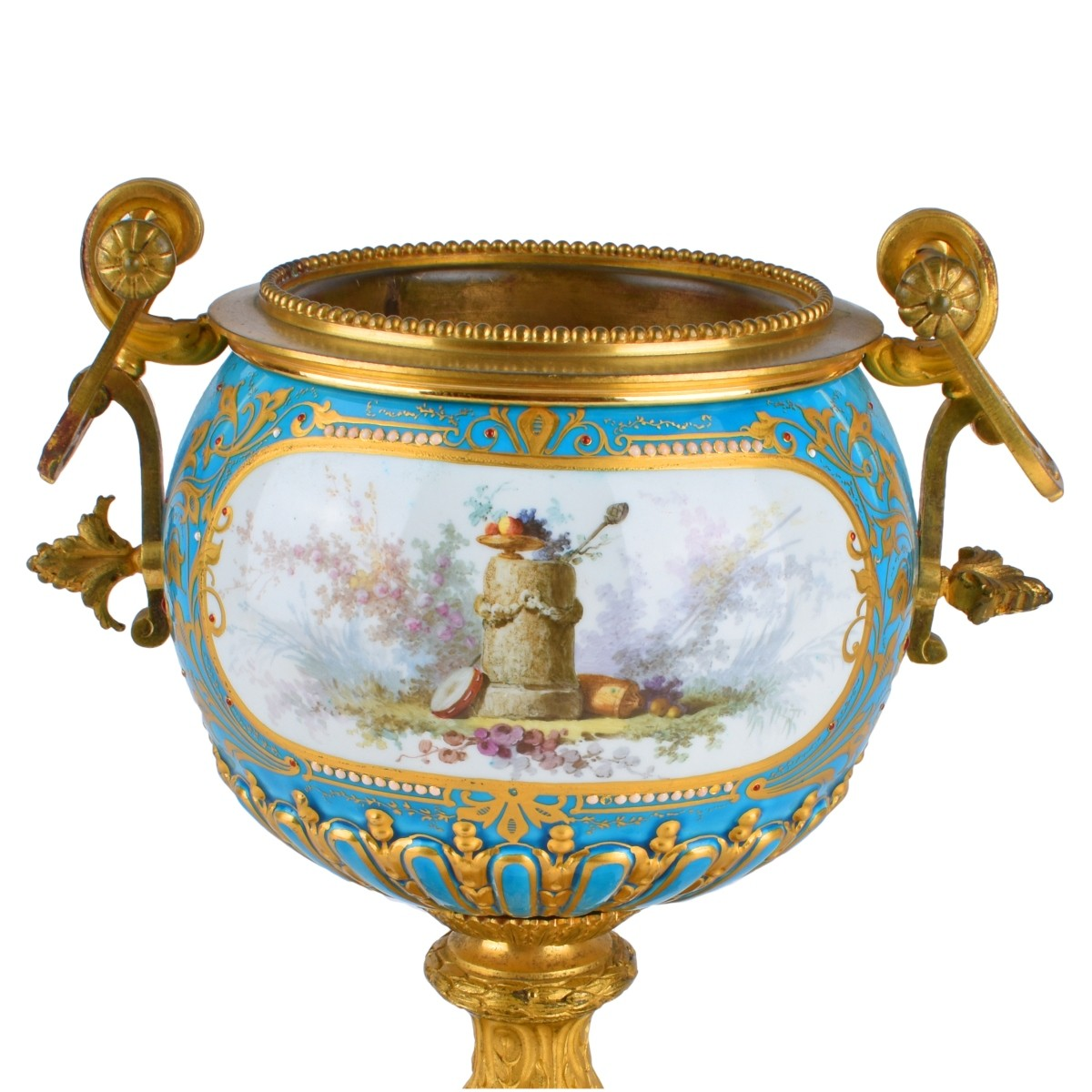 A Sevres syle Porcelain and Bronze Mounted Bowl