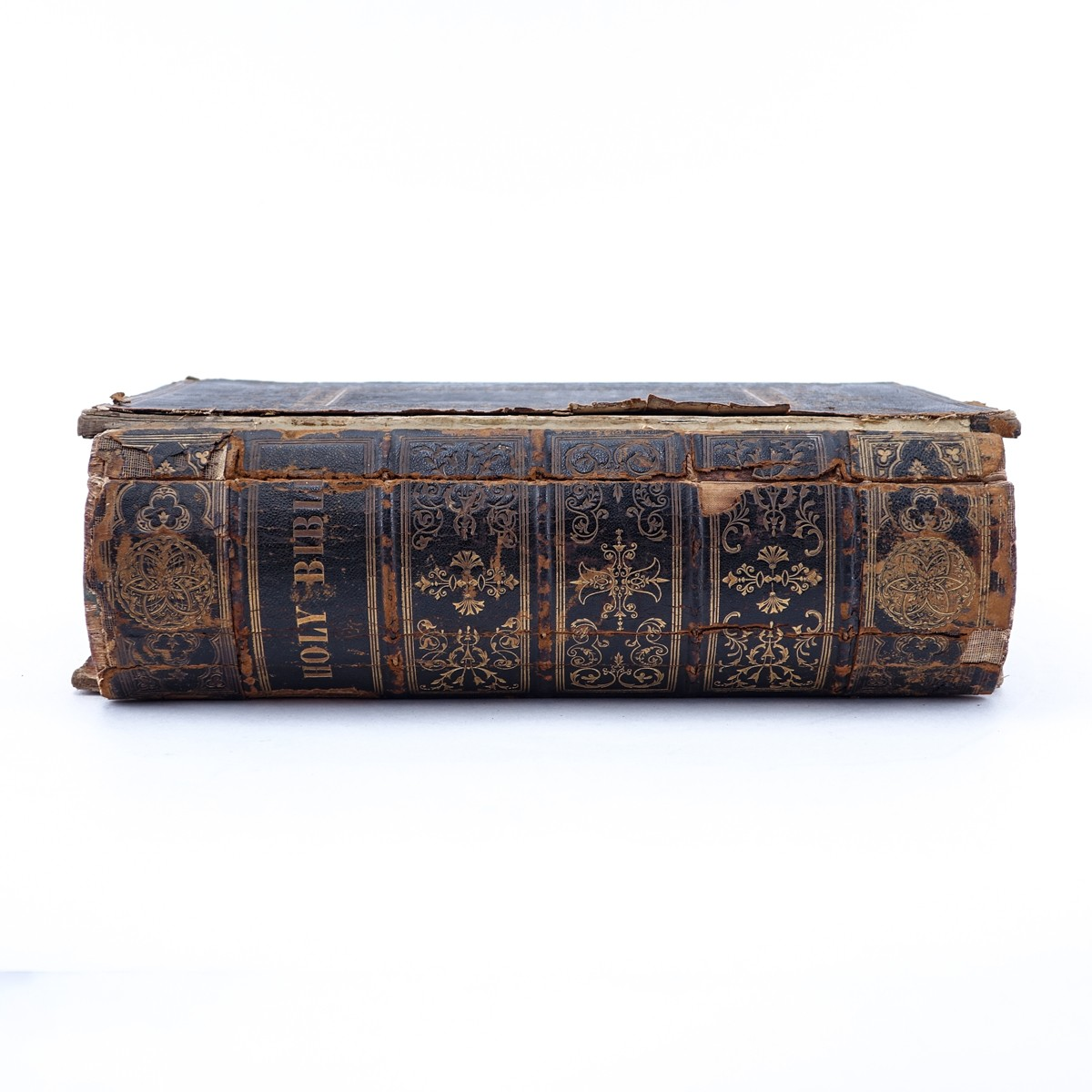 Harper and Brothers, Publishers, New York, 1846, Large Leather Bound Illuminated Bible. Includes th