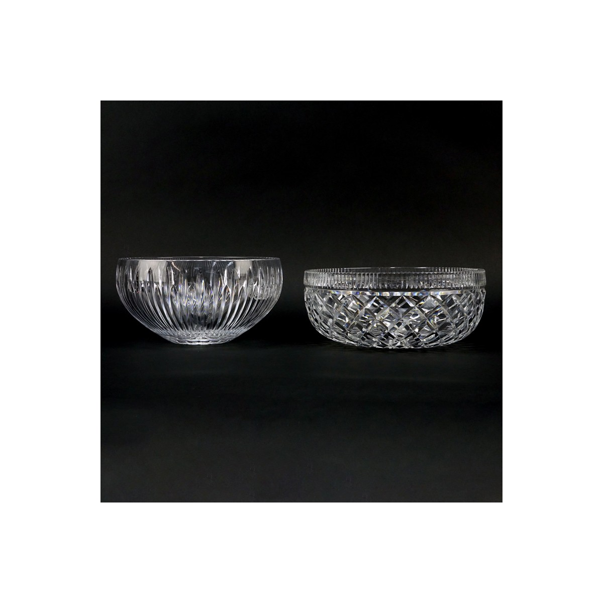 "Two (2) Waterford Crystal Round Bowls. Each signed appropriately. One in the ""Carina"" Pattern other"