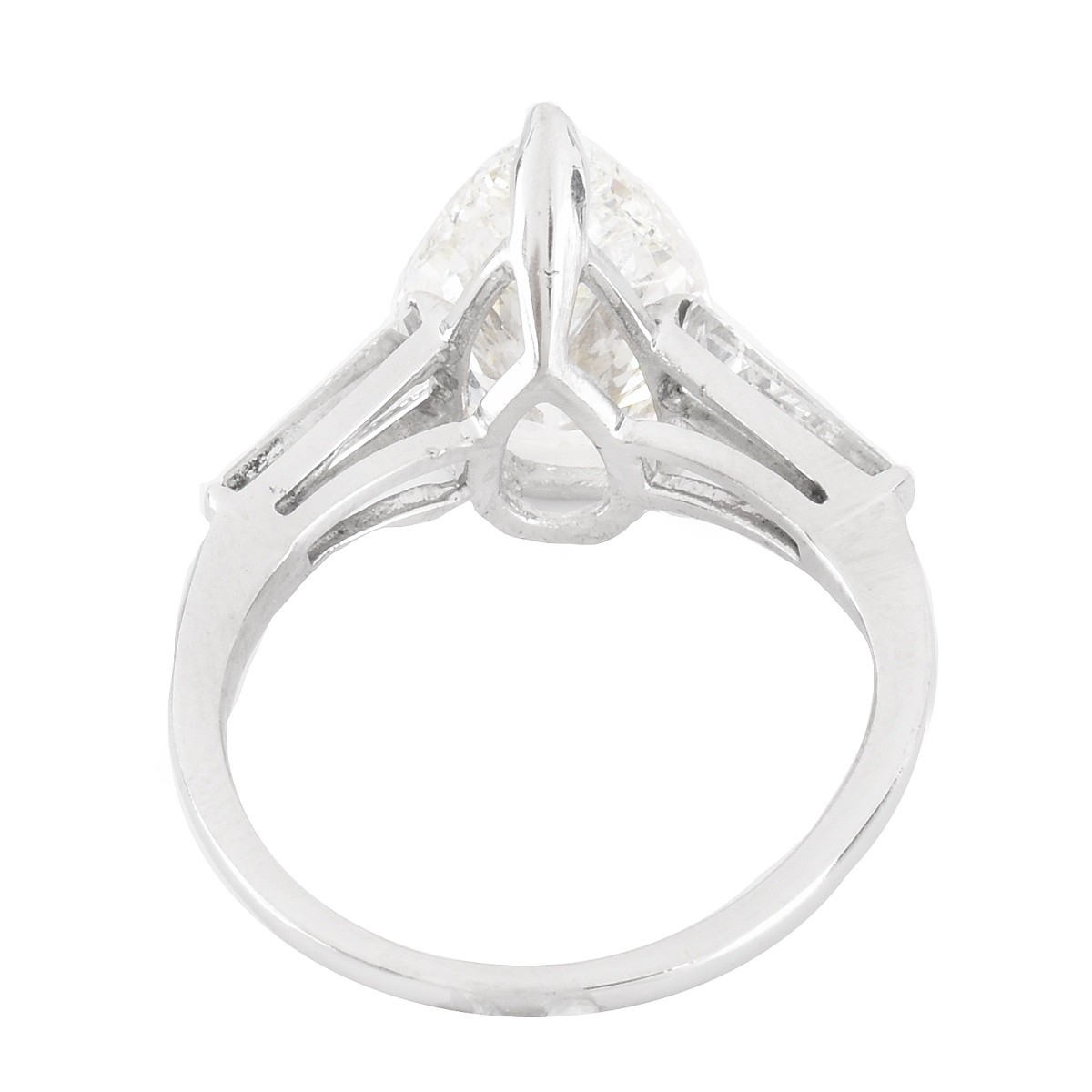 EGL 3.47ct Diamond and Platinum Ring