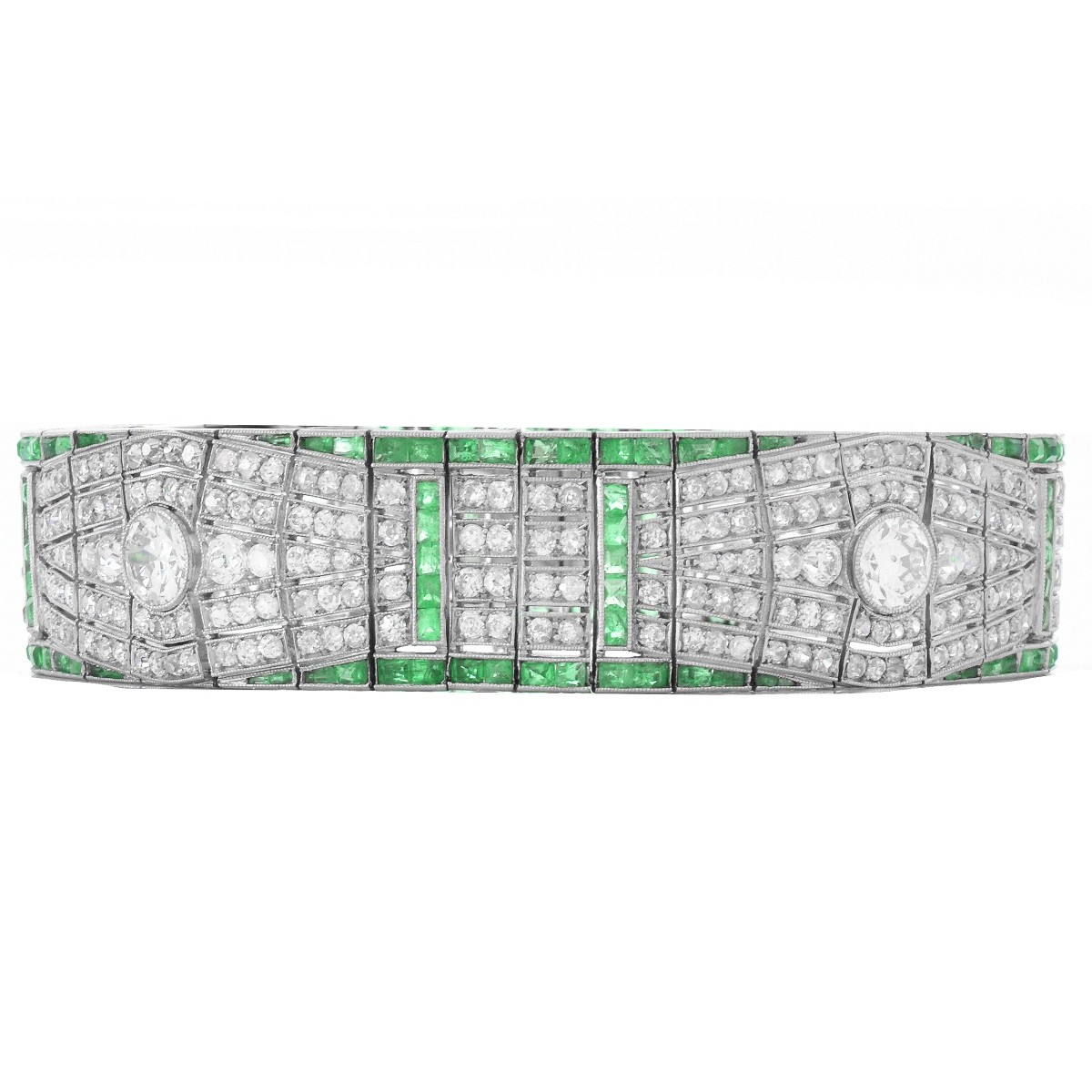 Art Deco Diamond and Platinum Bracelet