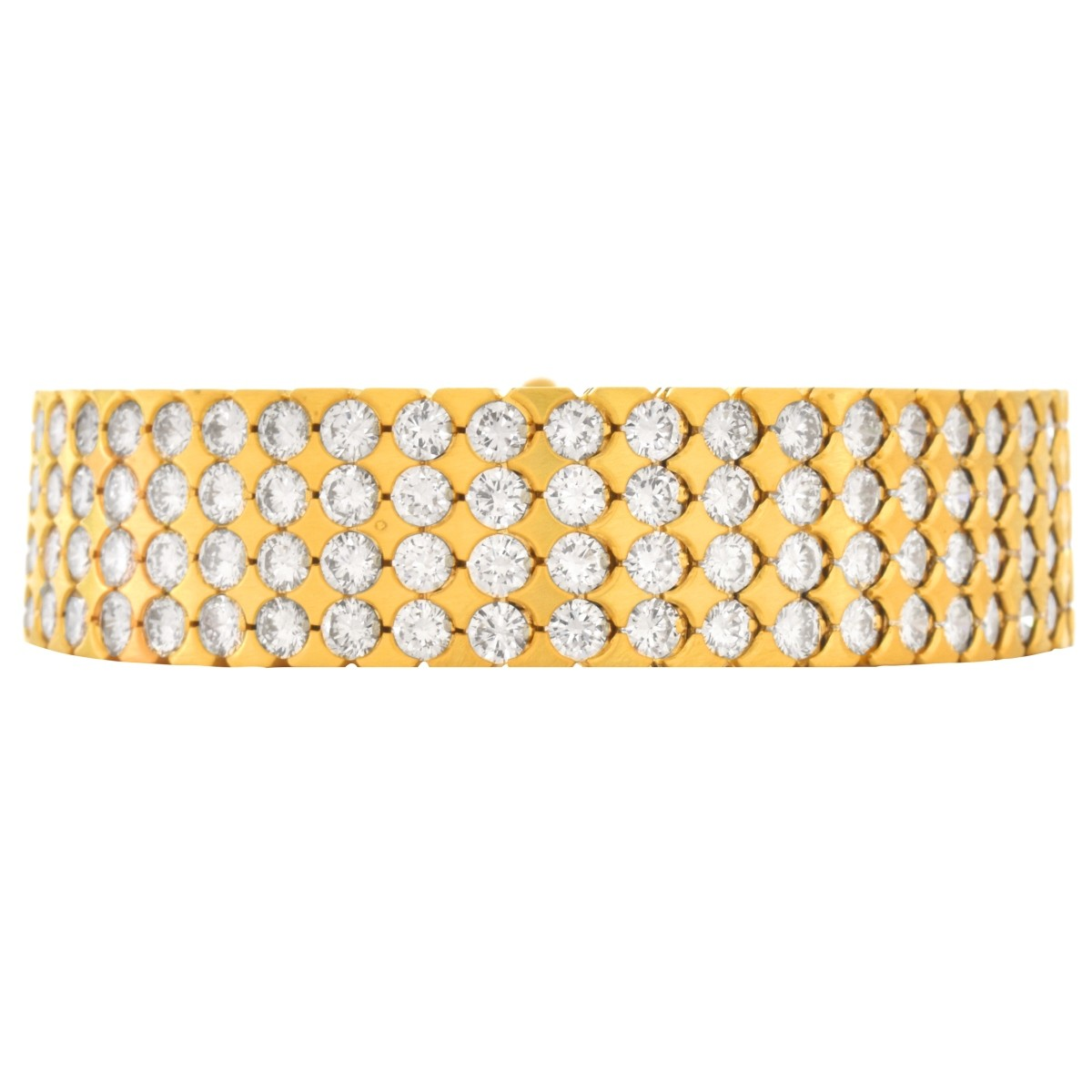22.0ct TW Diamond and 18K Gold Bracelet
