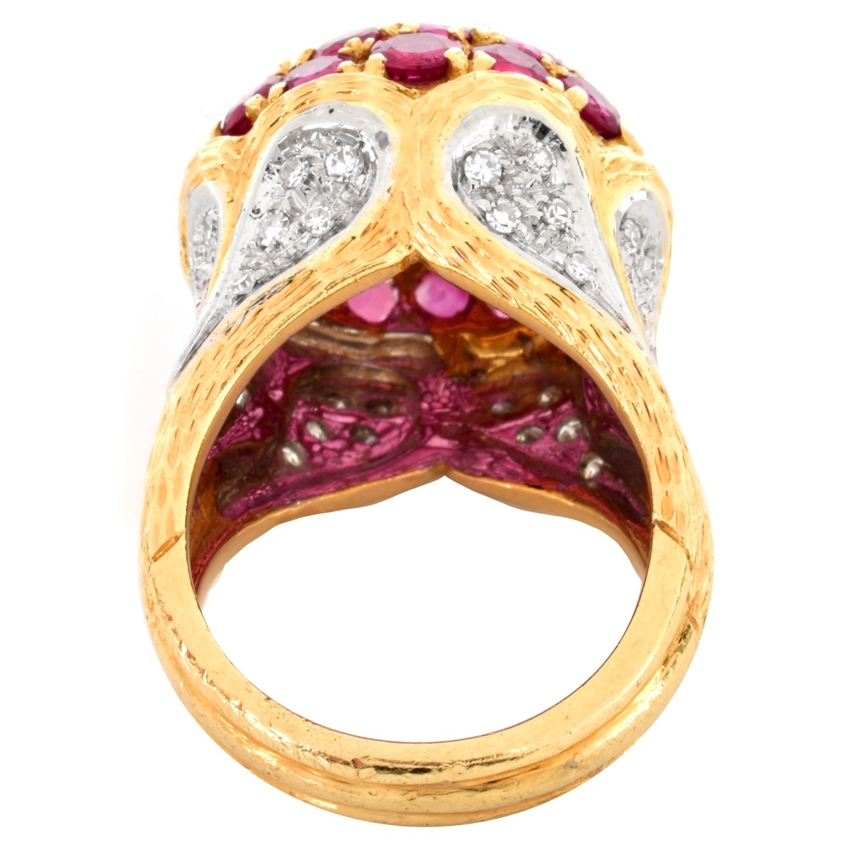 Spitzer & Furhmann Ruby and Diamond Ring