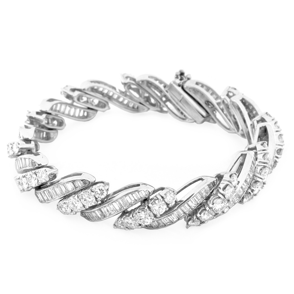 22.0ct TW Diamond and Platinum Bracelet