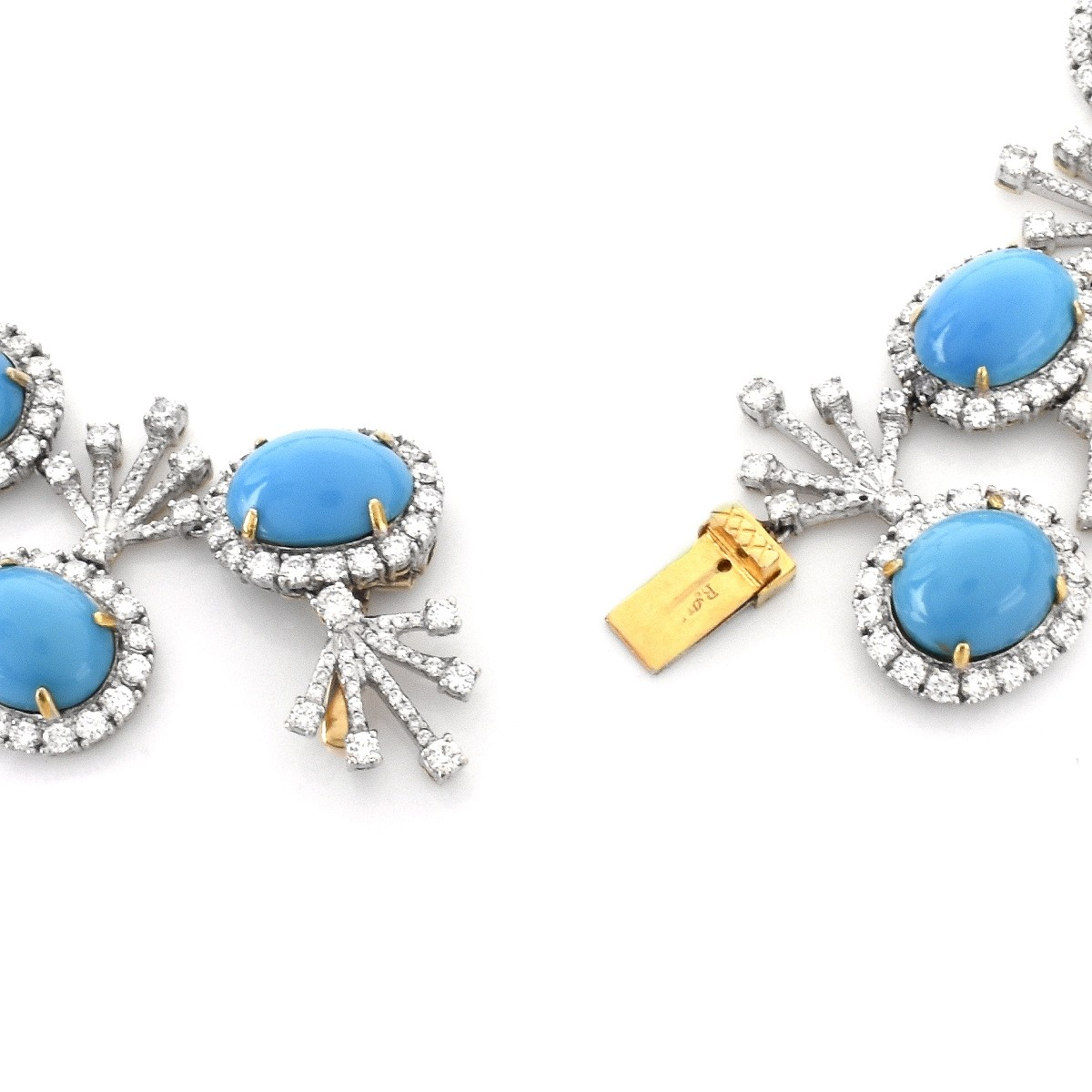Turquoise, Diamond and 18K Gold Suite