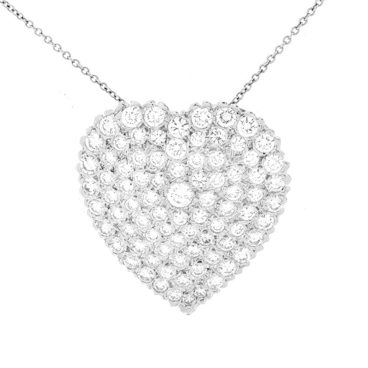 Diamond and 14K Gold Heart Necklace