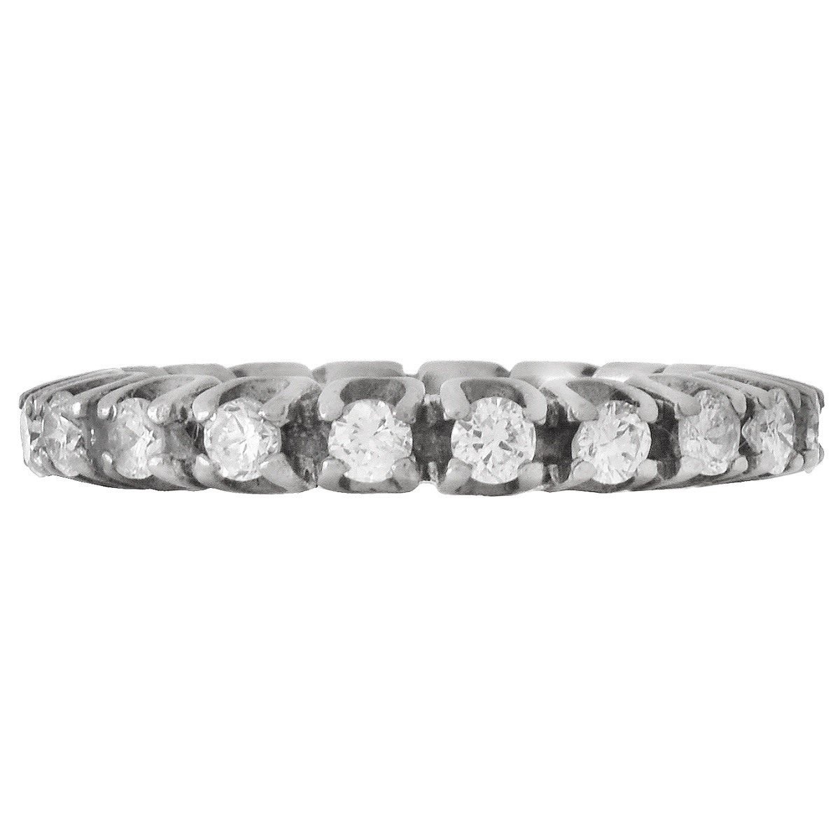 Vintage Diamond and 14K Eternity Band