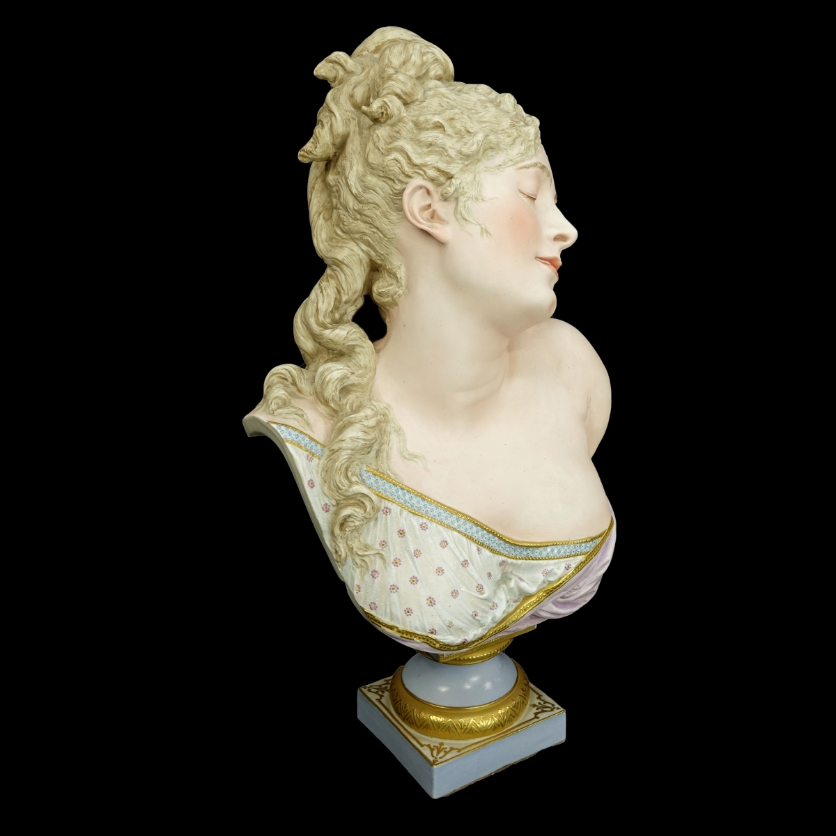 A. Carrier Belleuse Porcelain Bust