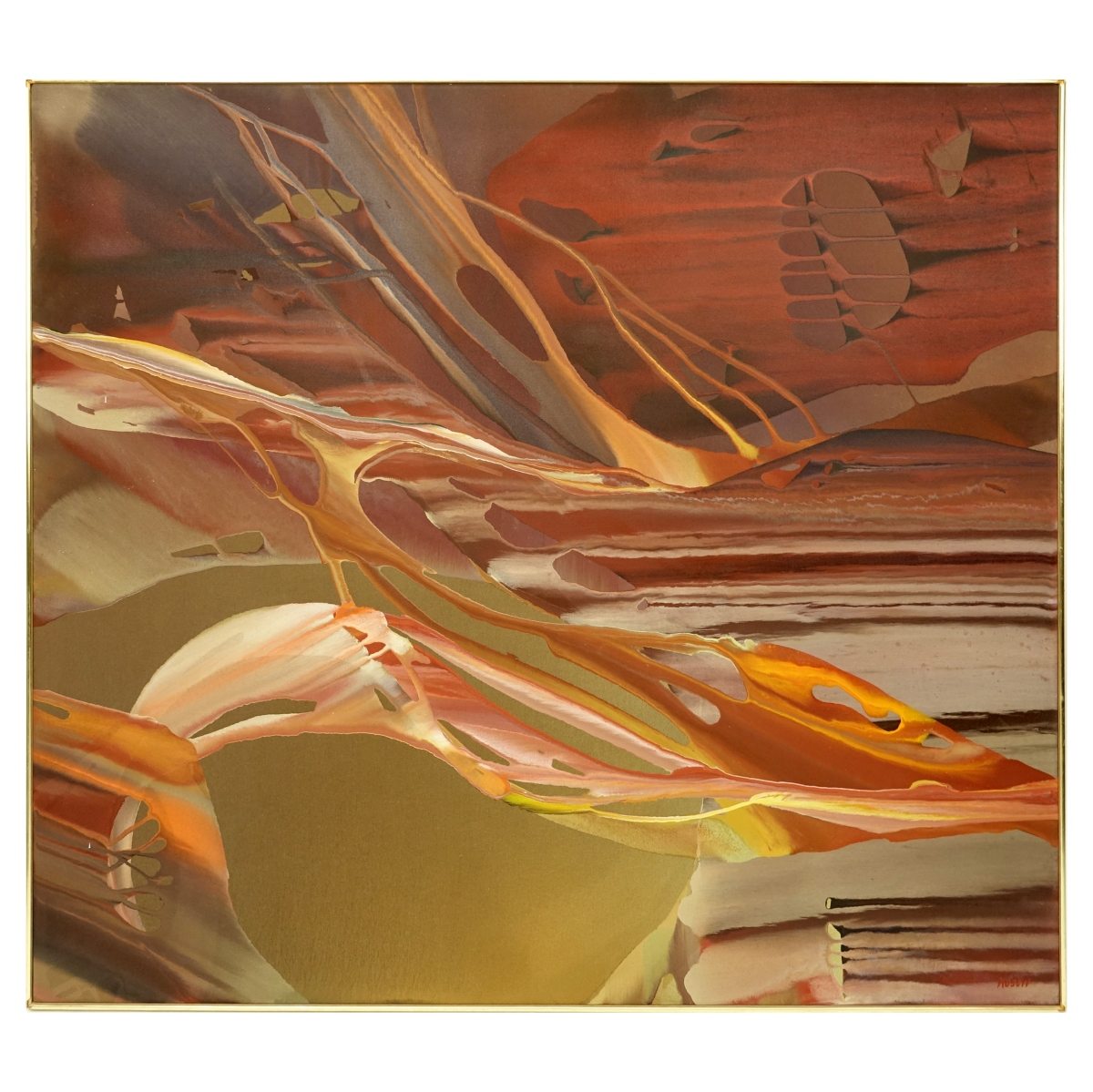 Florence Rosen (20th C) Abstract O/C