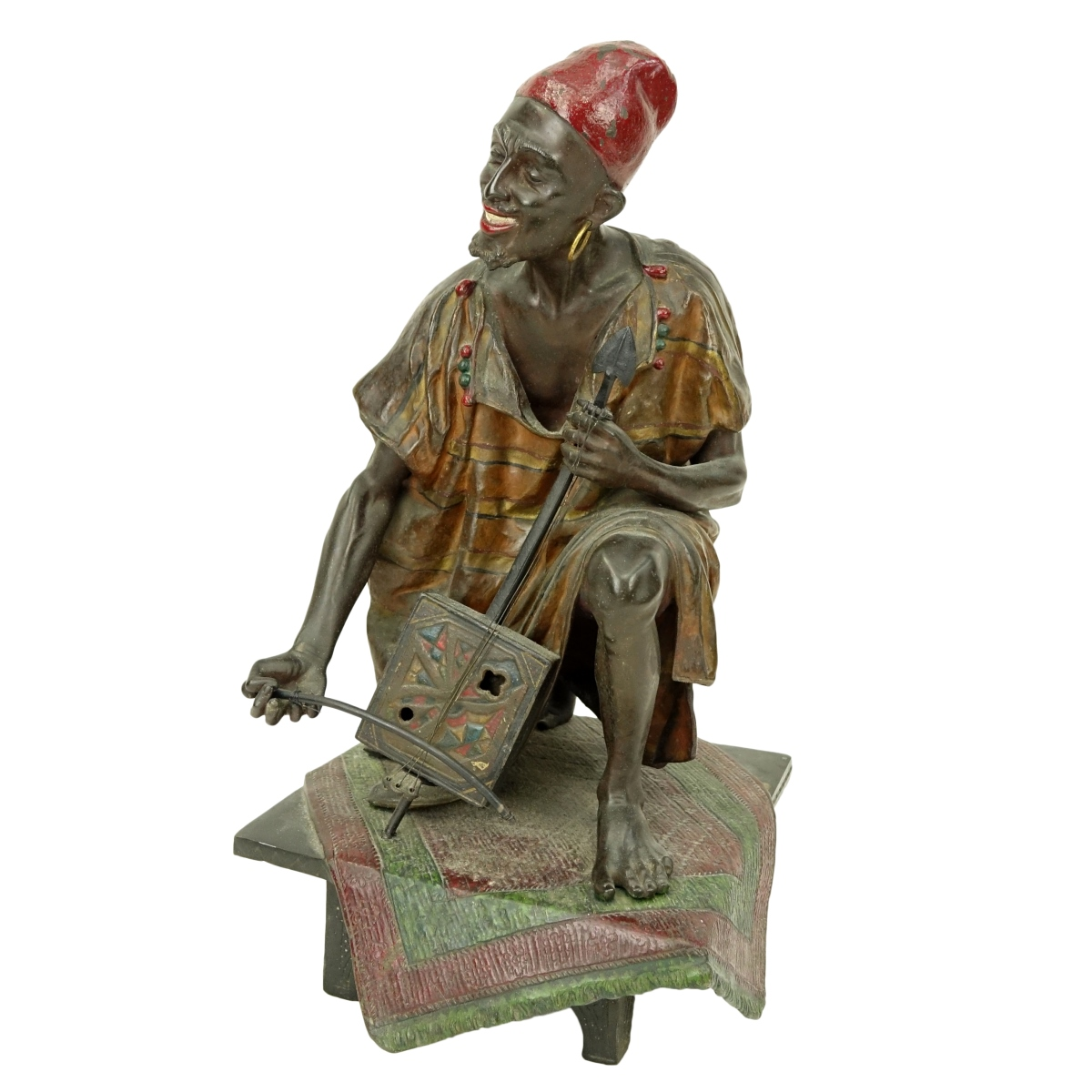 19th Century Orientalist French Polychrome Spelter
