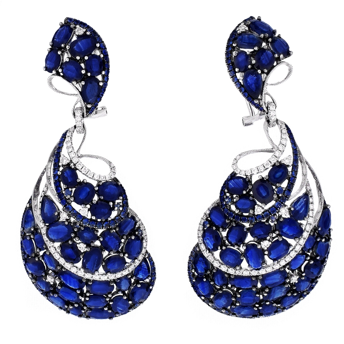 Sapphire and 18K Earrings