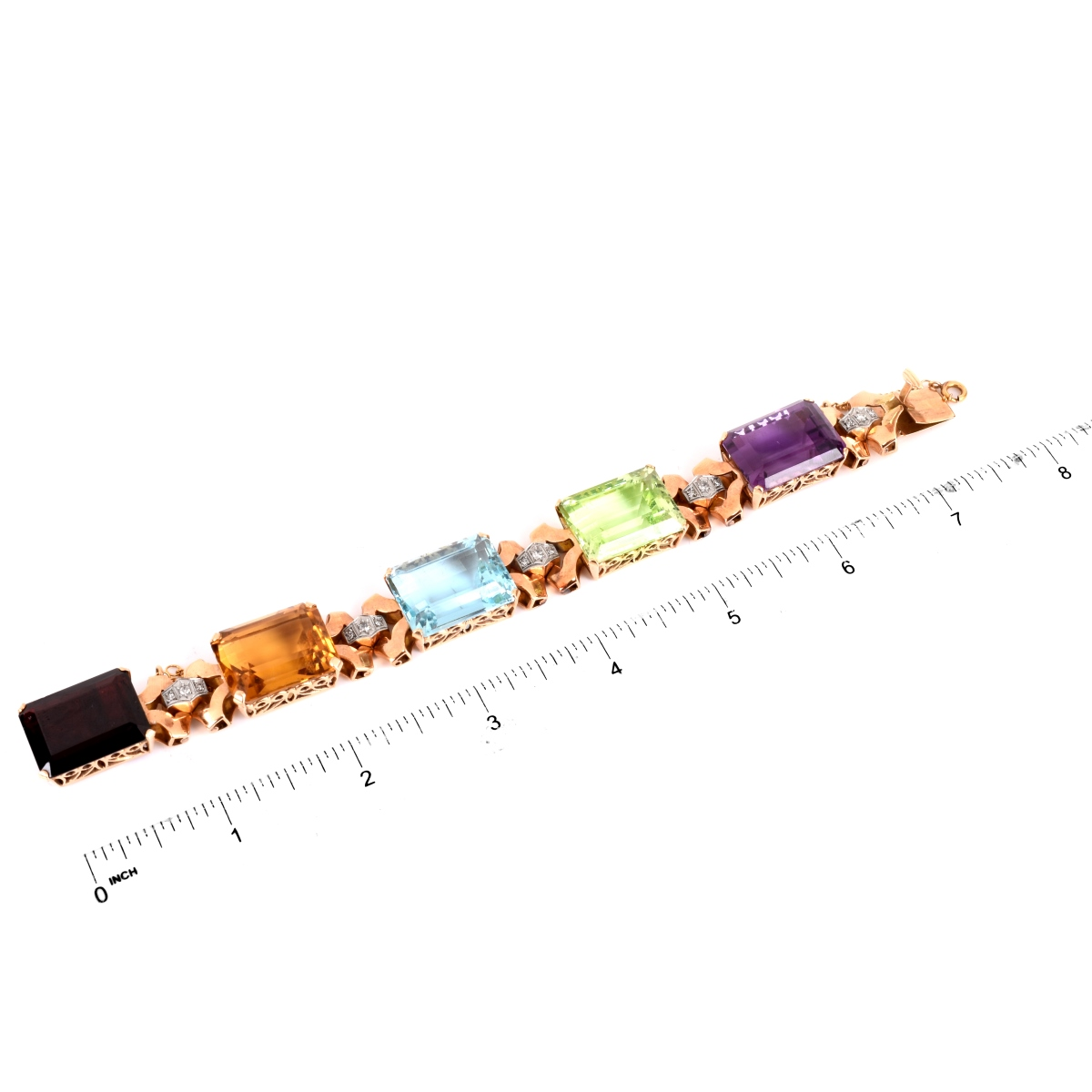 Gemstone and 14K Bracelet