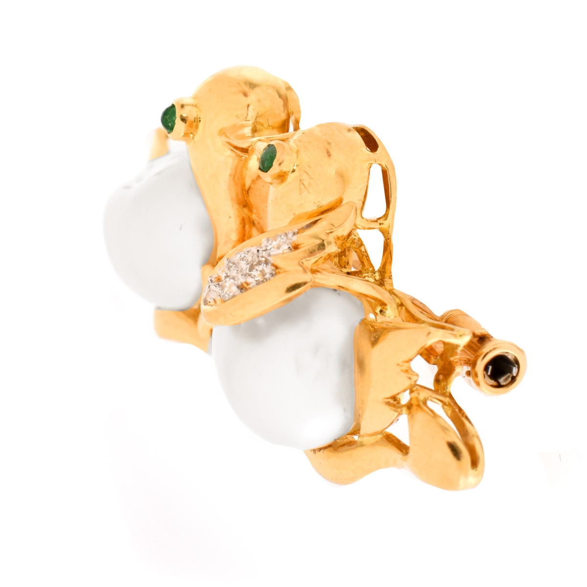 South Sea Pearl and 18K Brooch