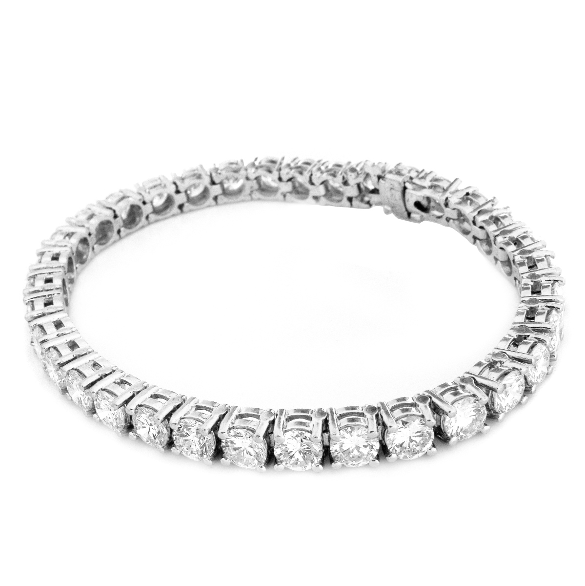 Vintage 13.0ct TW Diamond and Platinum Bracelet