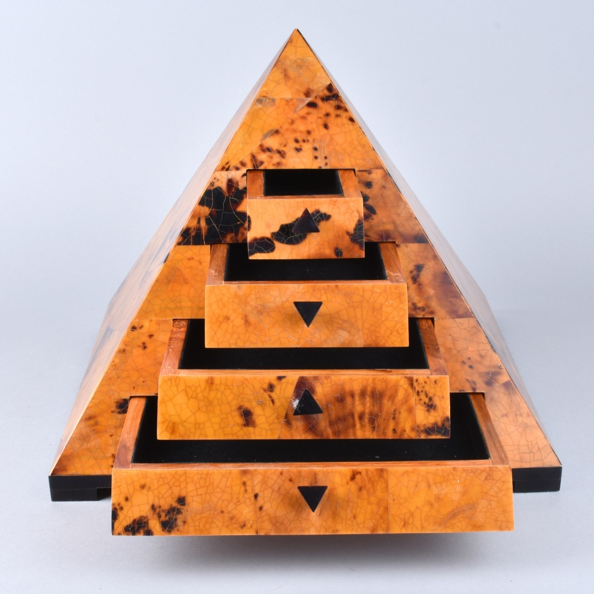 Maitland-Smith Style Pyramid Jewelry Box