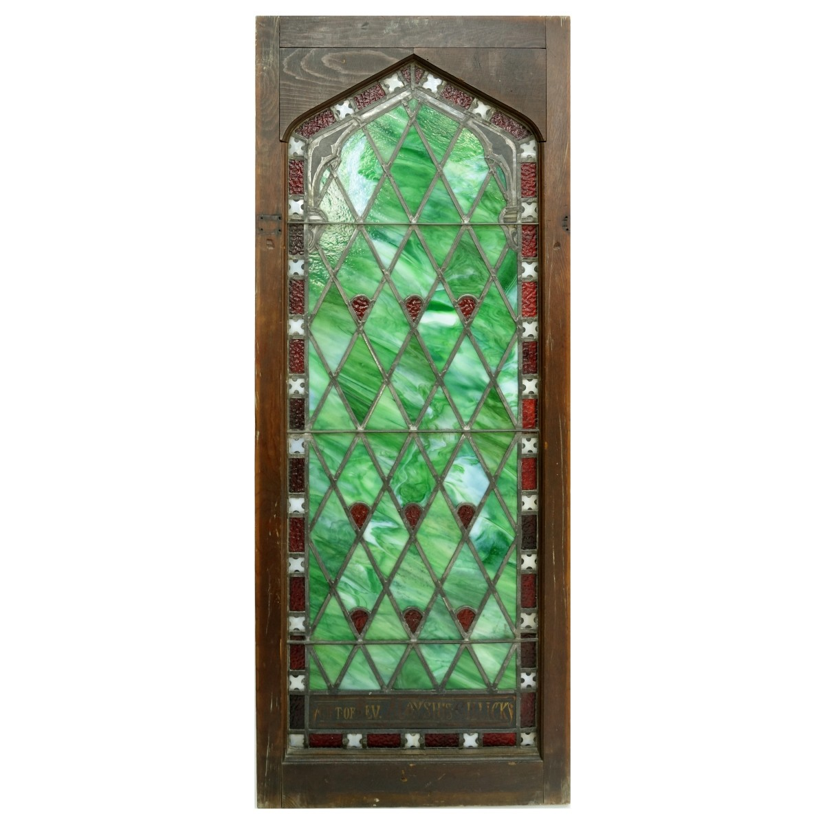 19th C. Leaded and Stained Glass Window