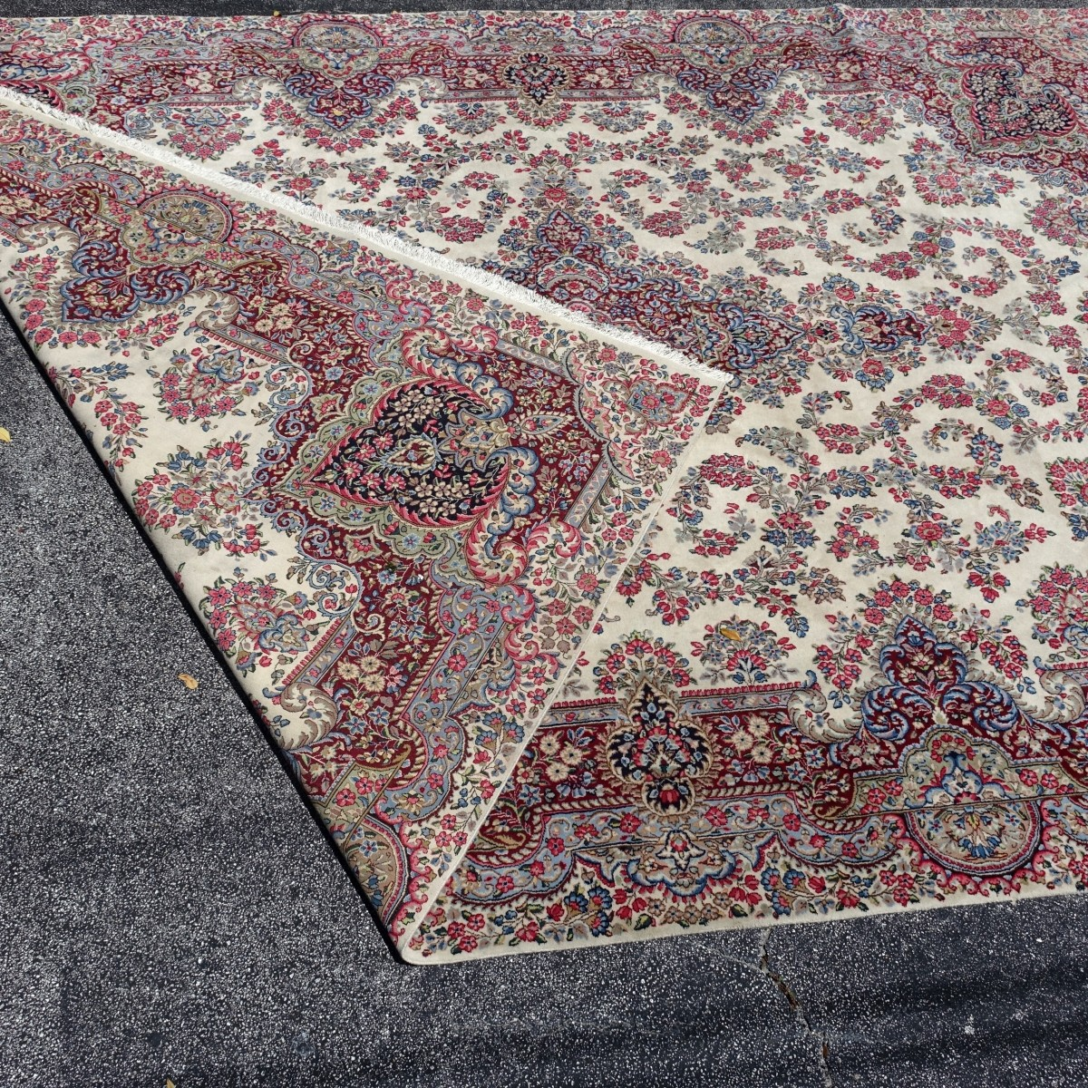 Semi Antique Kerman Rug