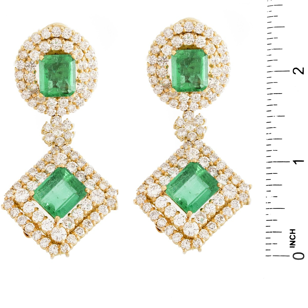 Important Emerald, Diamond and 18K Earrings