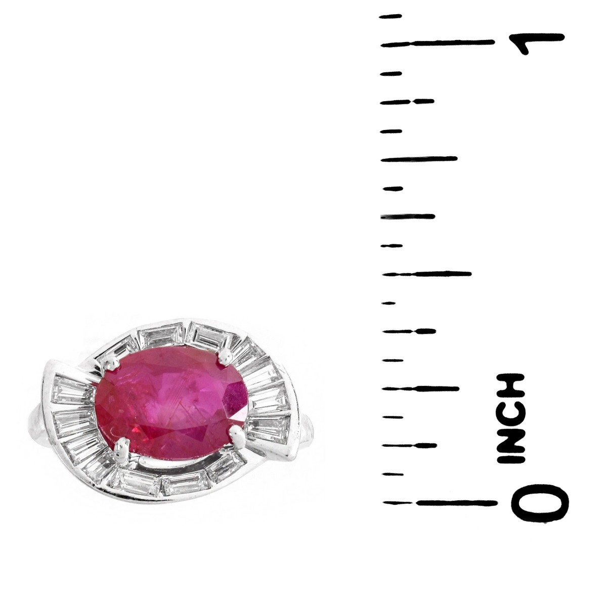 AGL 2.98ct Burma Ruby Ring