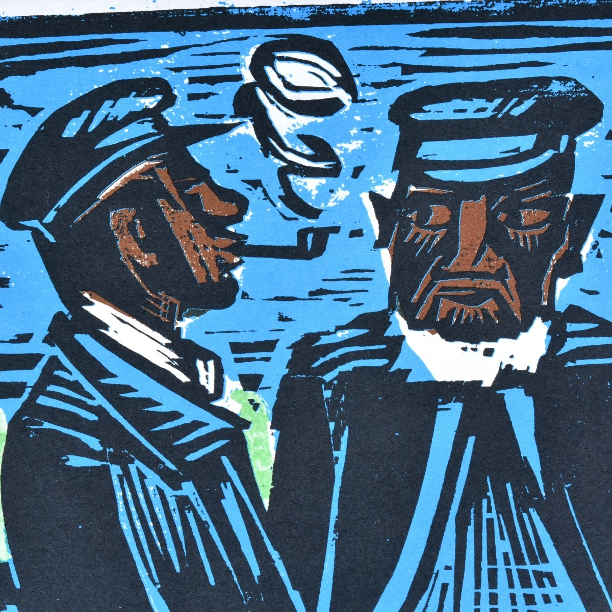 Max Pechstein (1881 - 1955) Color Woodcut Print