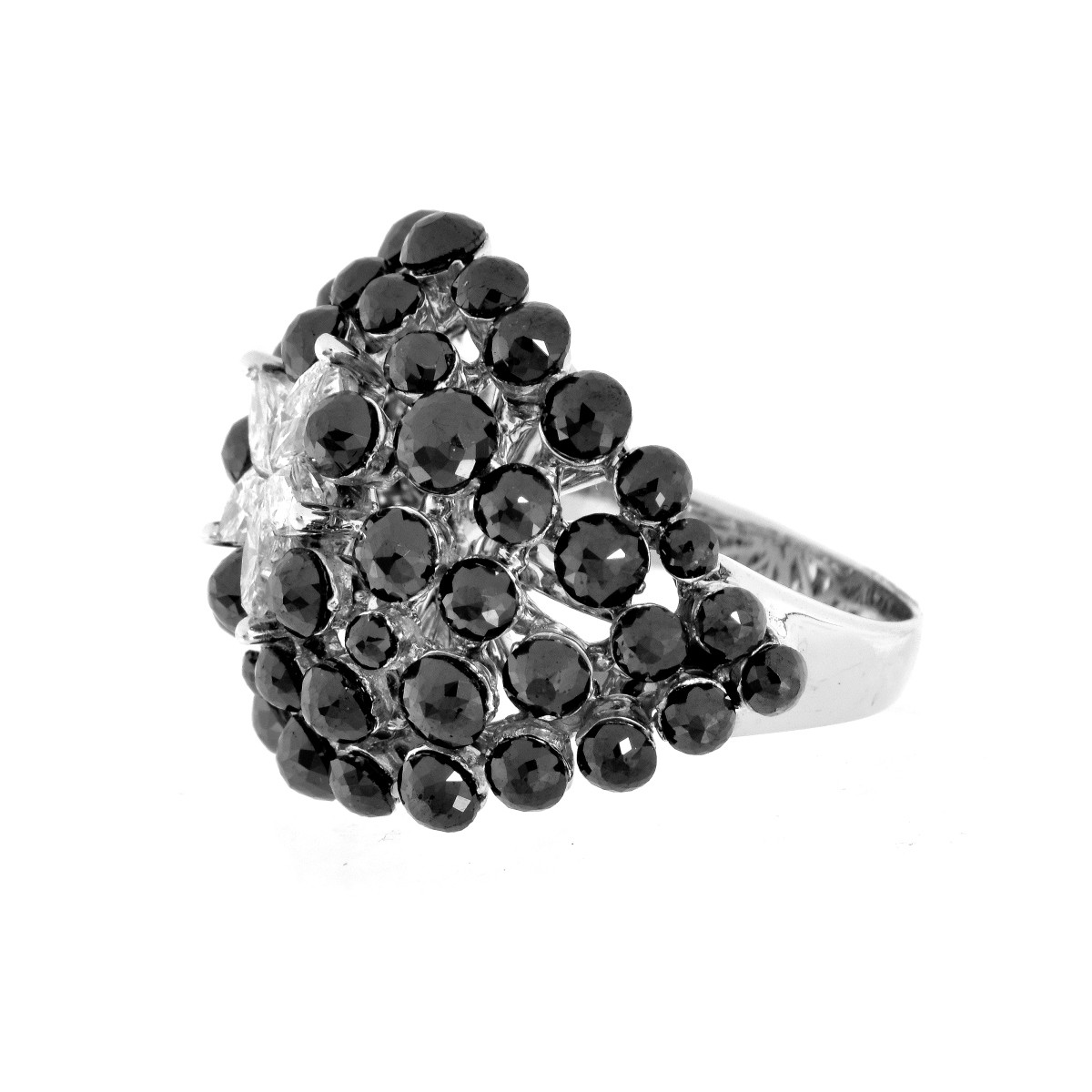 Charade Black and White Diamond Ring