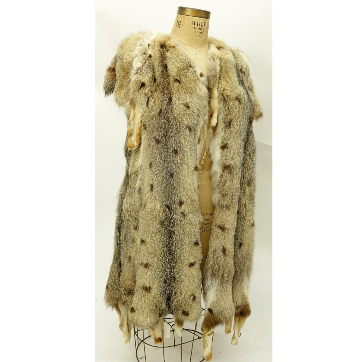 Vintage Christine Vogdt Wild Cat Fur Vest | Kodner Auctions