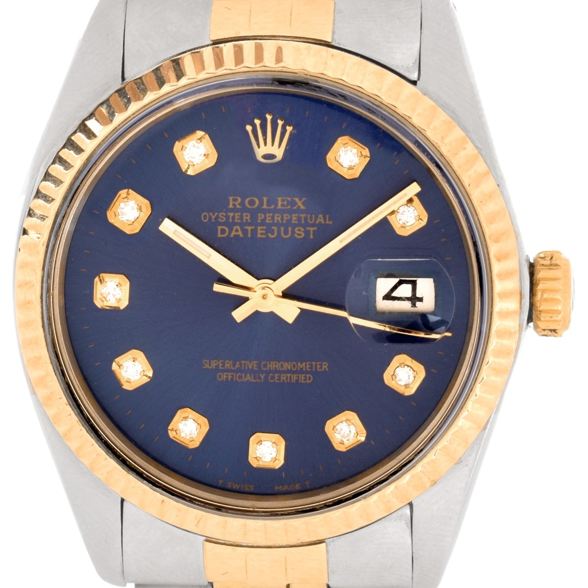 Man's Vintage Rolex Two Tone Datejust Watch