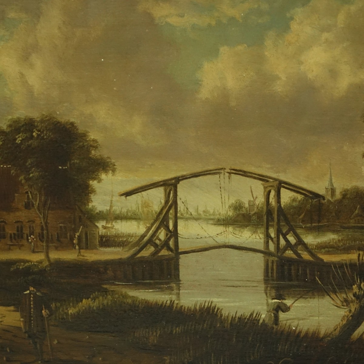 Jan Meerhout (1630-1677) Oil on Panel