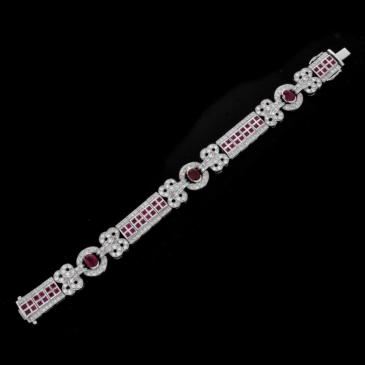 Vintage Ruby, Diamond and 18K Bracelet