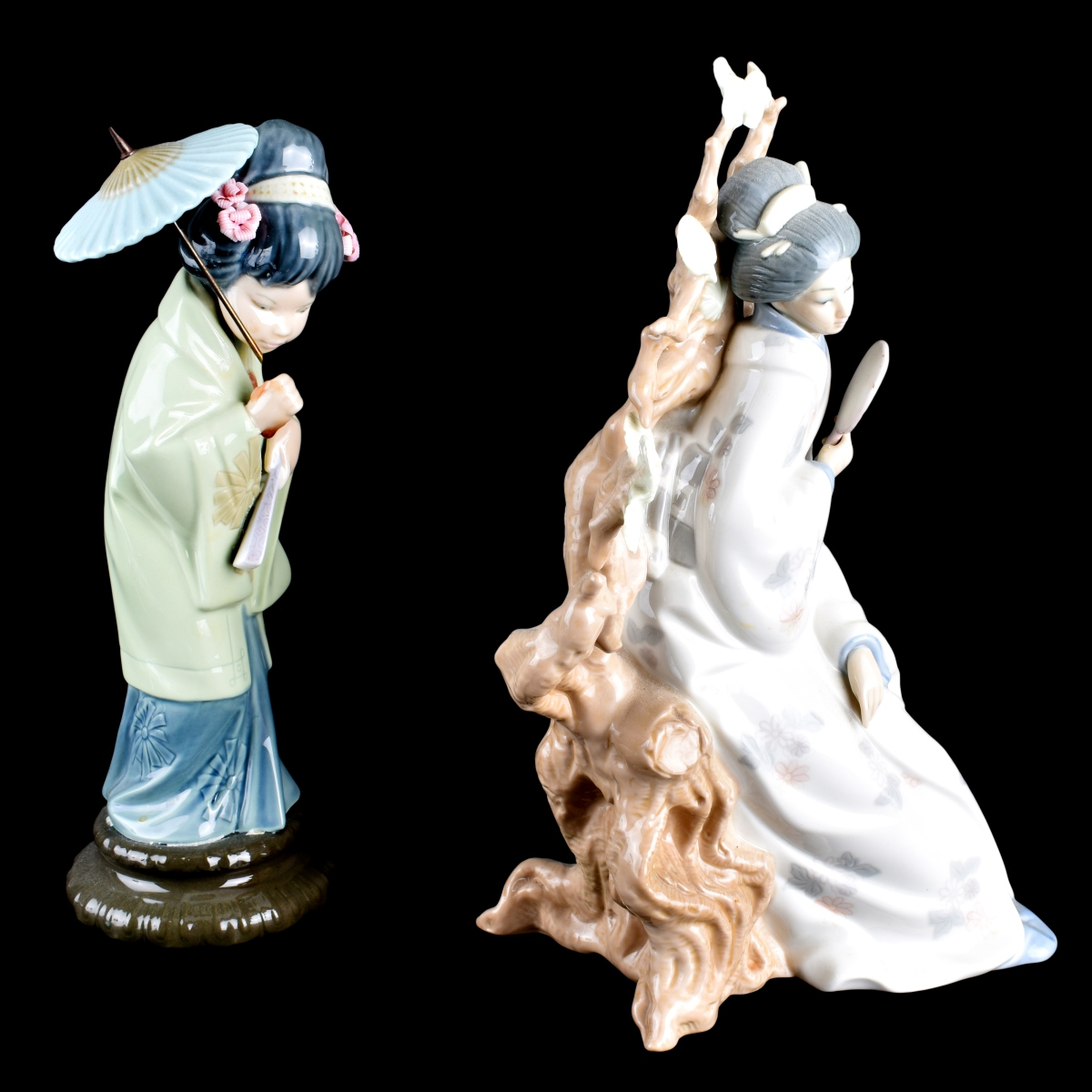 Grouping of Two (2) Lladro Porcelain Figurines