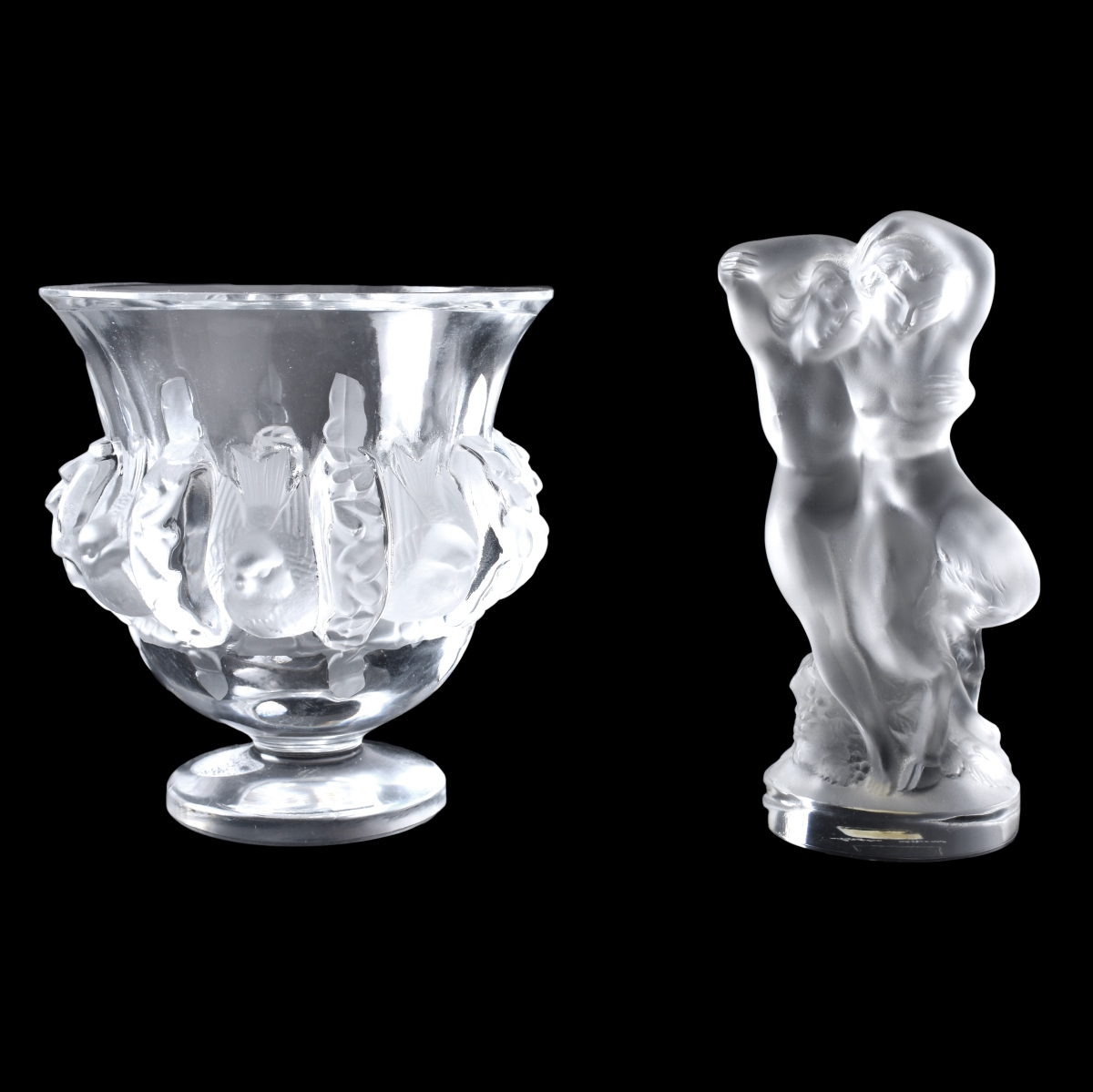 Two (2) Lalique Crystal Tableware