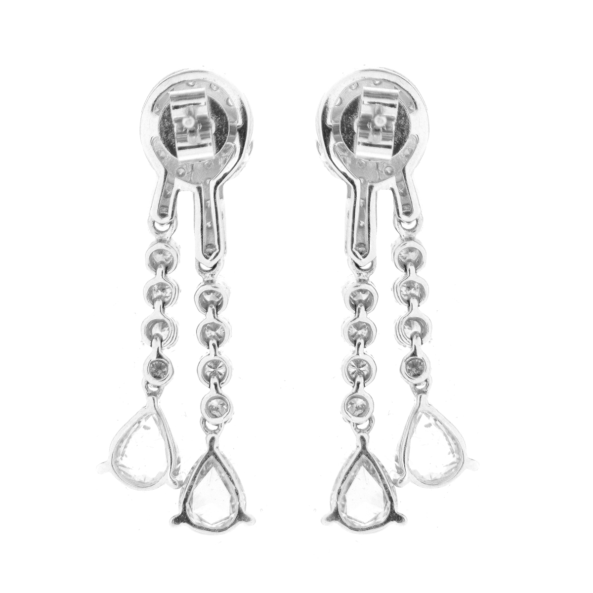 Diamond and 18K Earrings