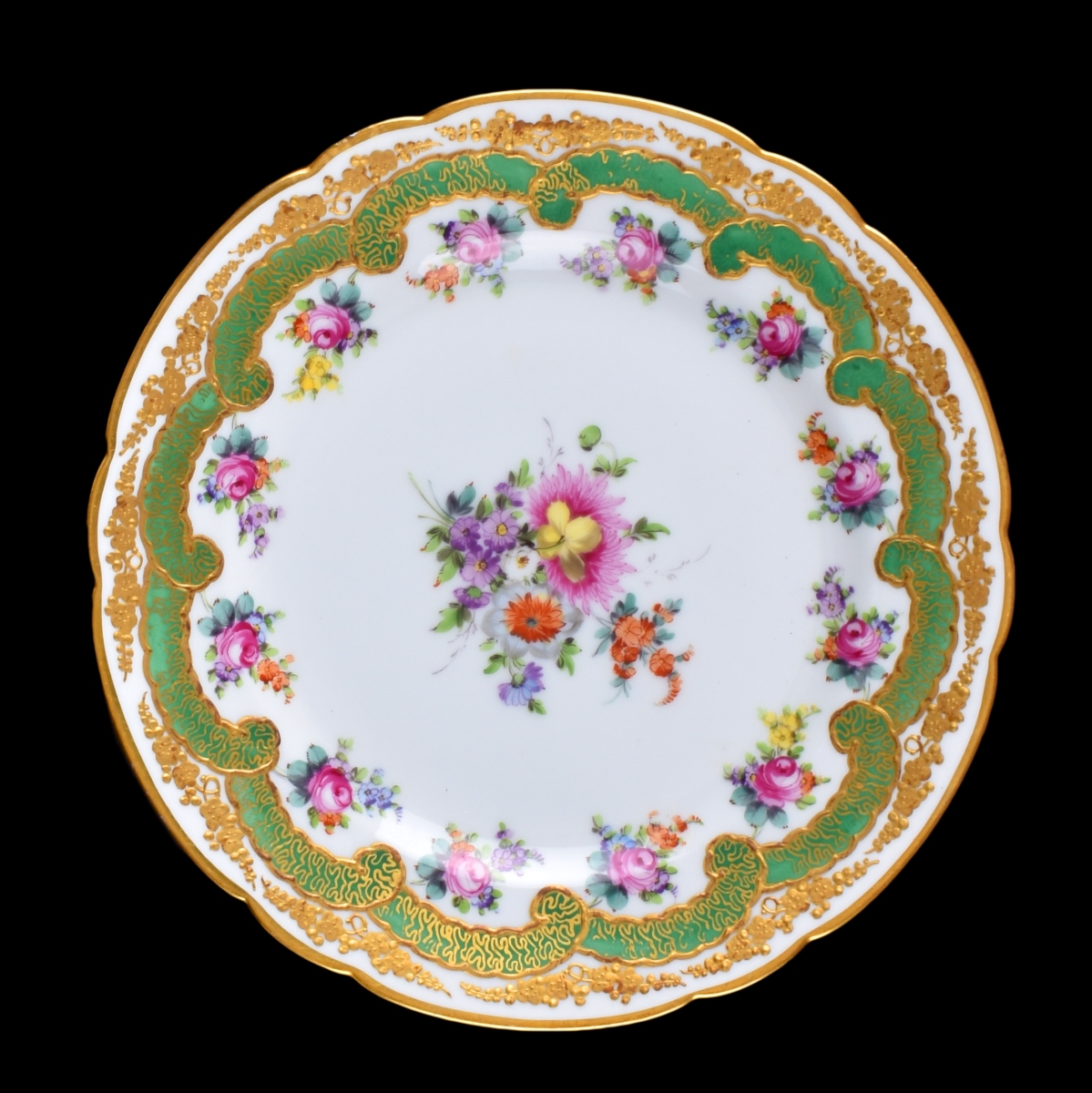 Three Sevres Cabinet Plates
